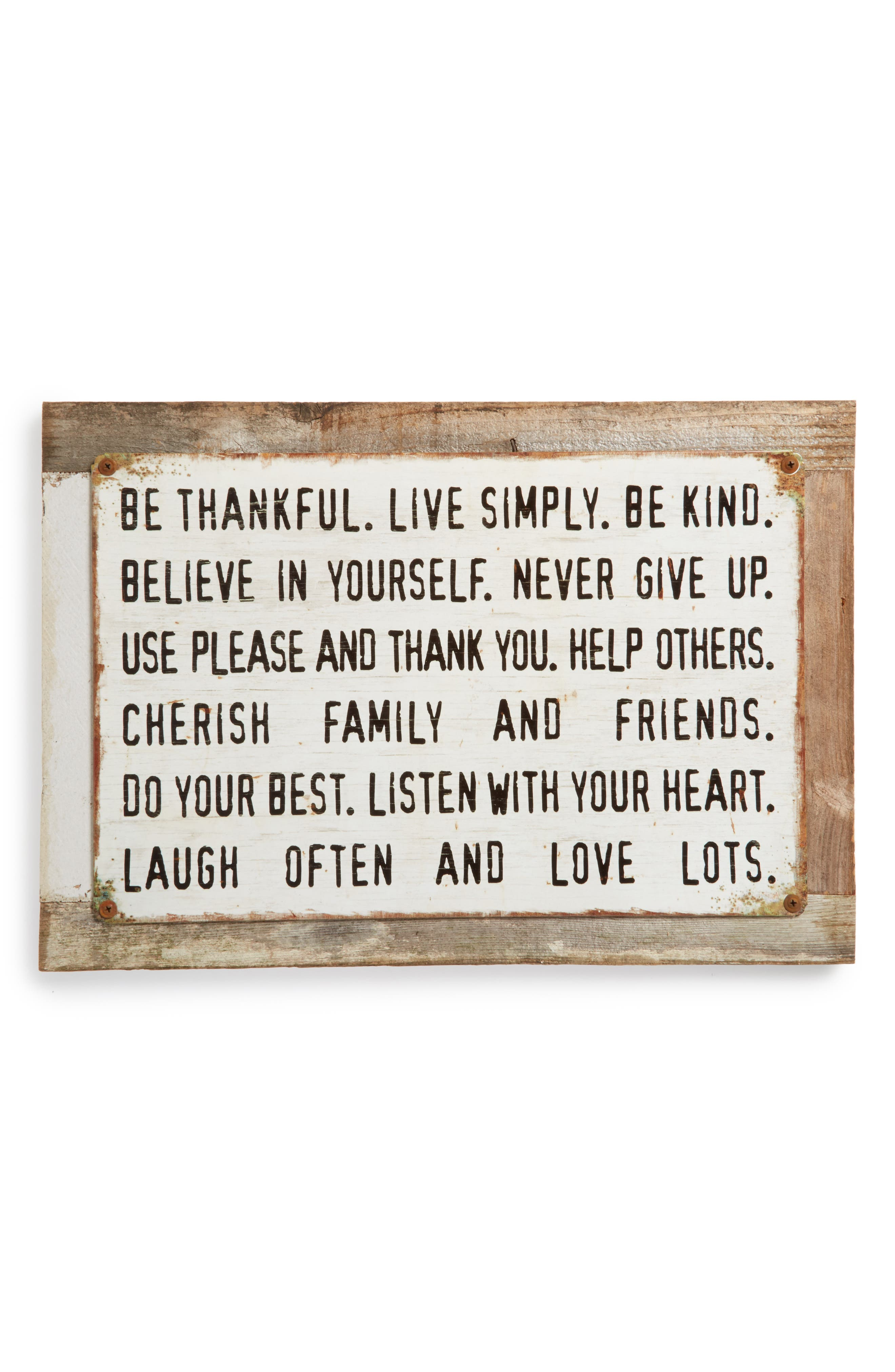 Poncho & Goldstein Be Thankful Wall Art
