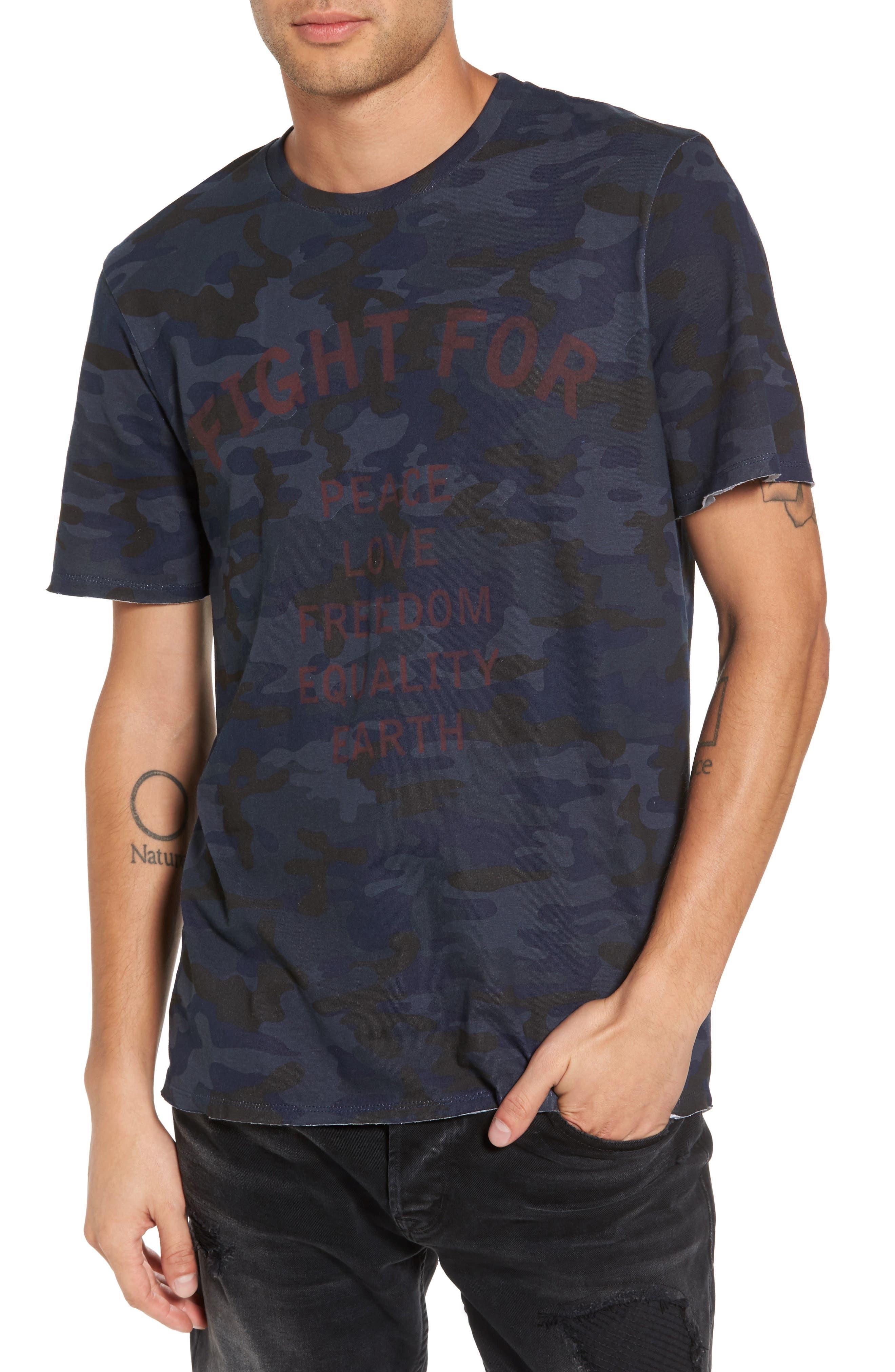 Noght T-Shirt,                         Main,                         color, Black Iris Camo