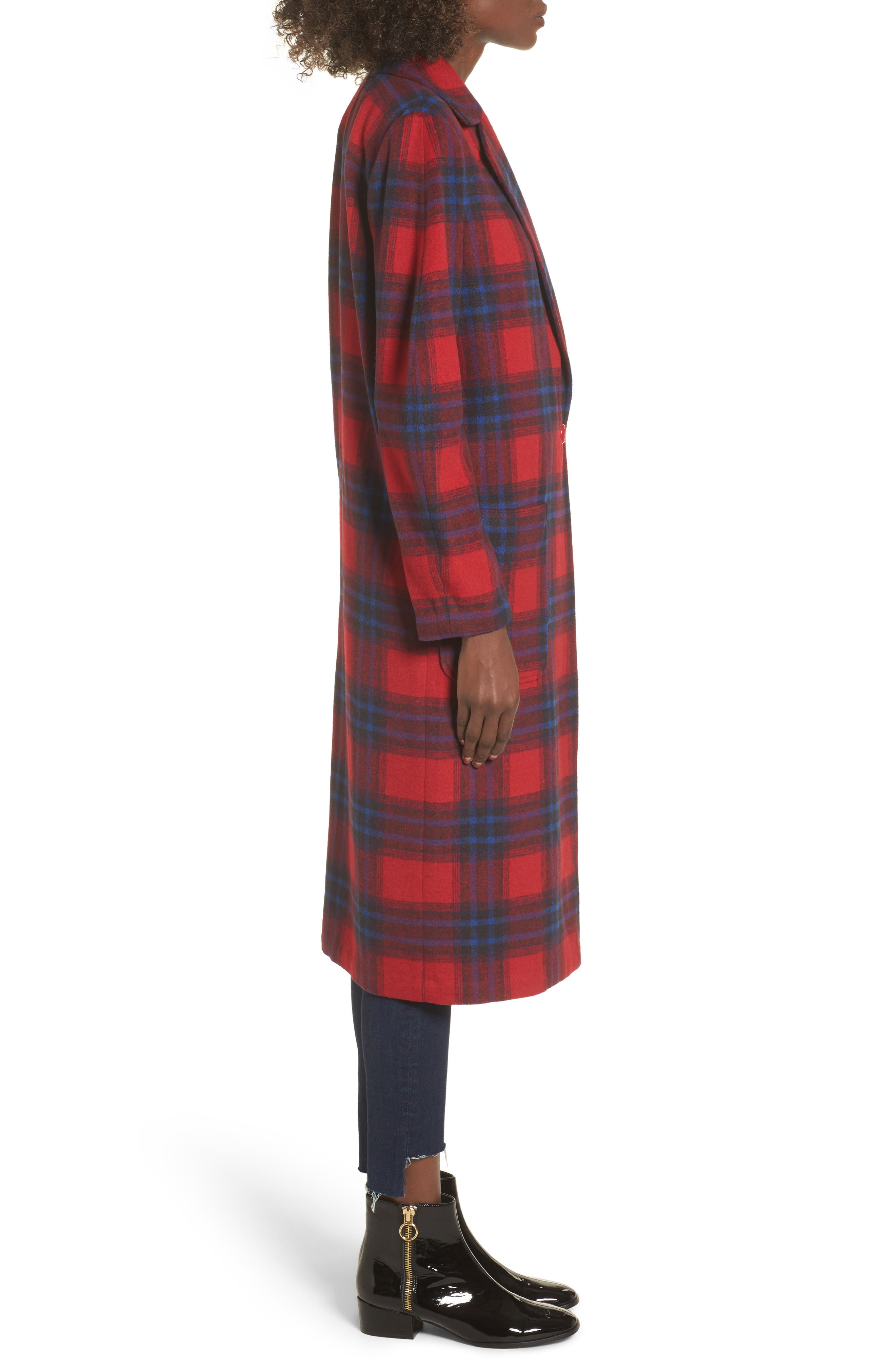 Alternate Image 4  - Leith Single Button Plaid Coat