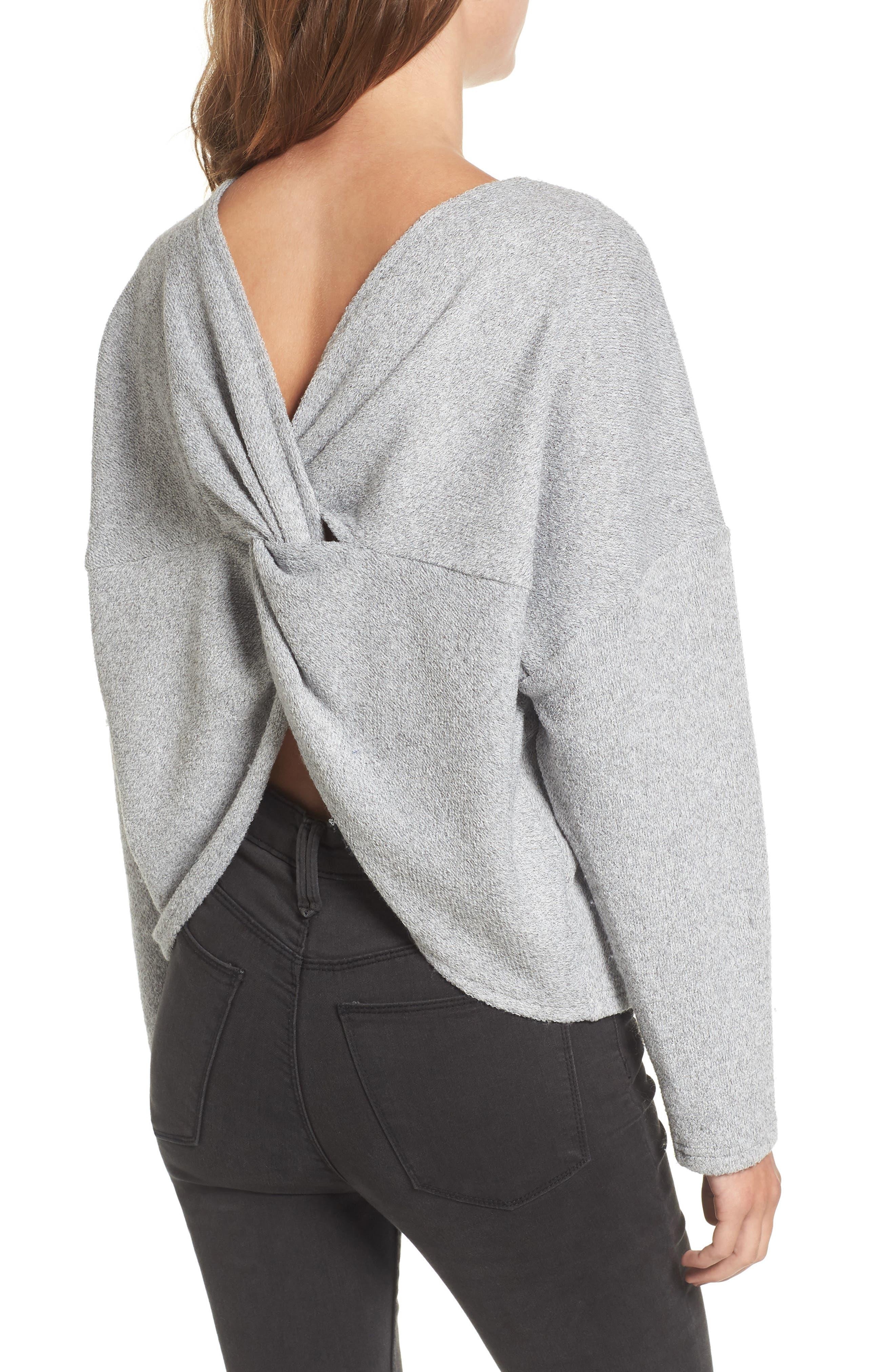 Main Image - STOREE Knot Back Sweatshirt