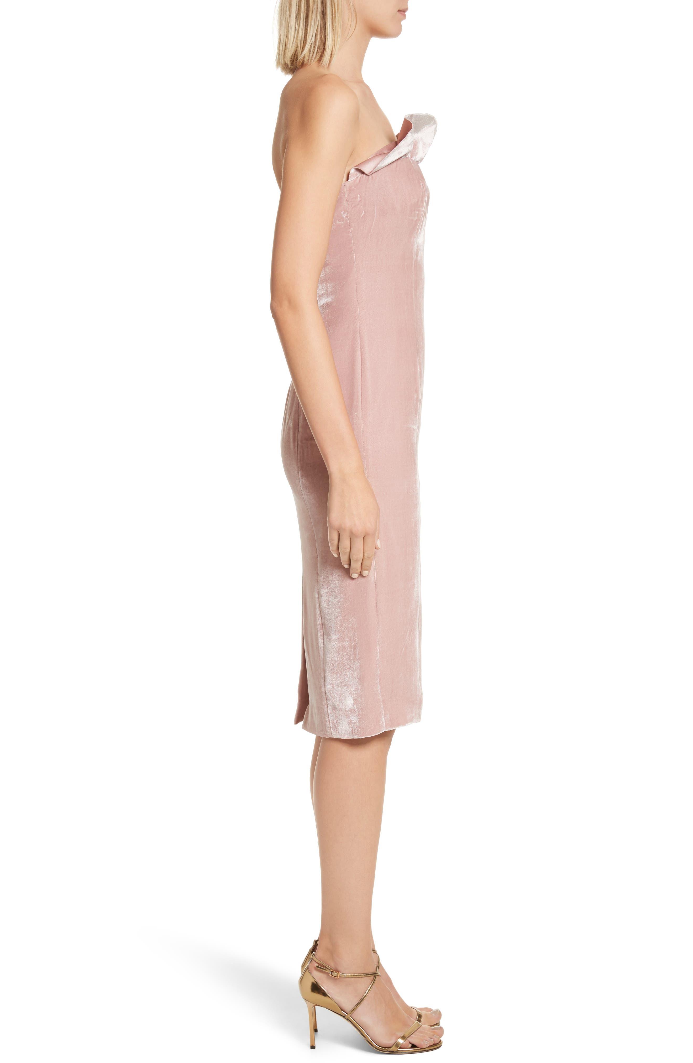 Marceau Velvet Dress,                             Alternate thumbnail 3, color,                             Mauve