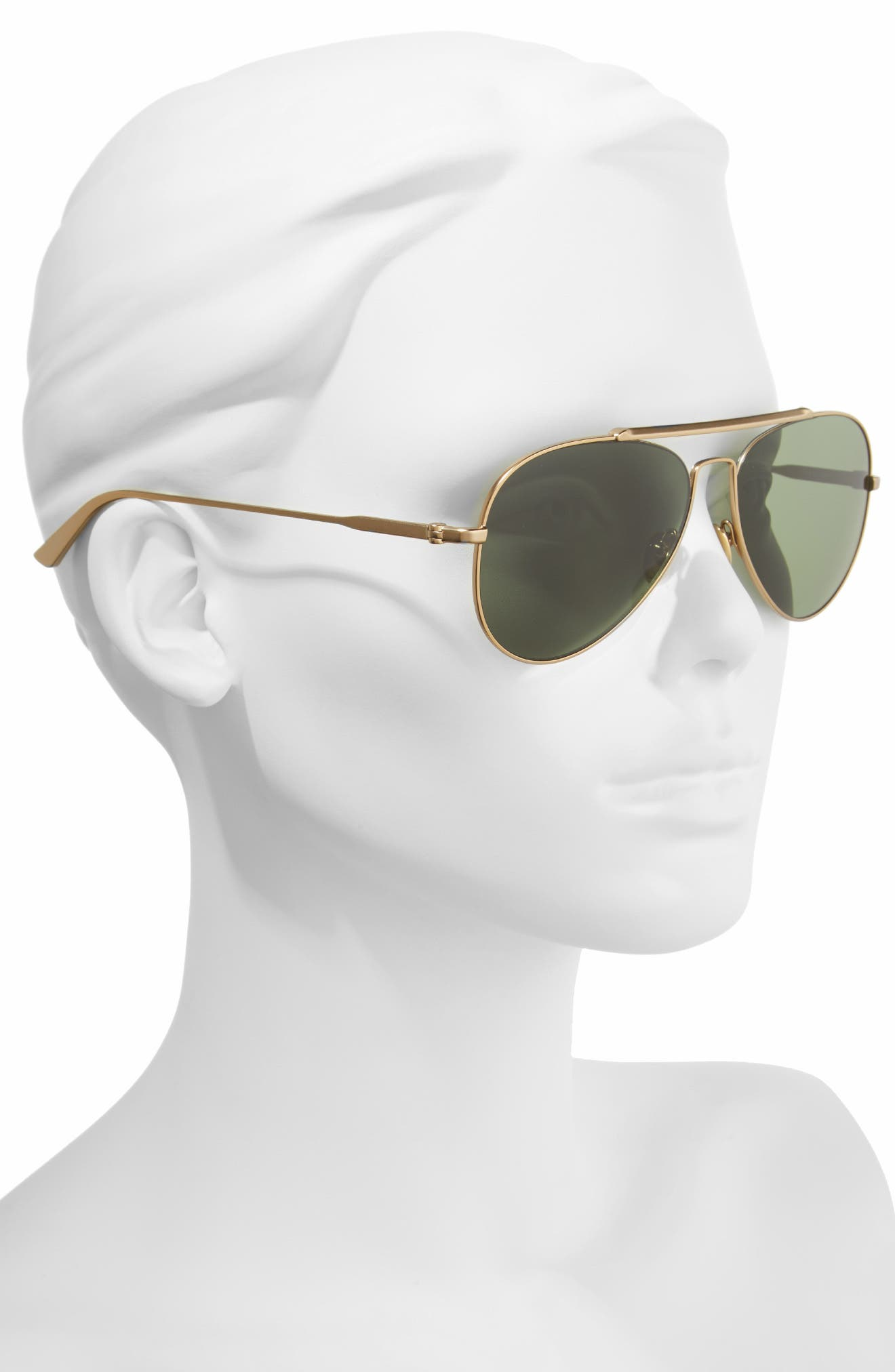 Alternate Image 2  - CALVIN KLEIN 58mm Aviator Sunglasses