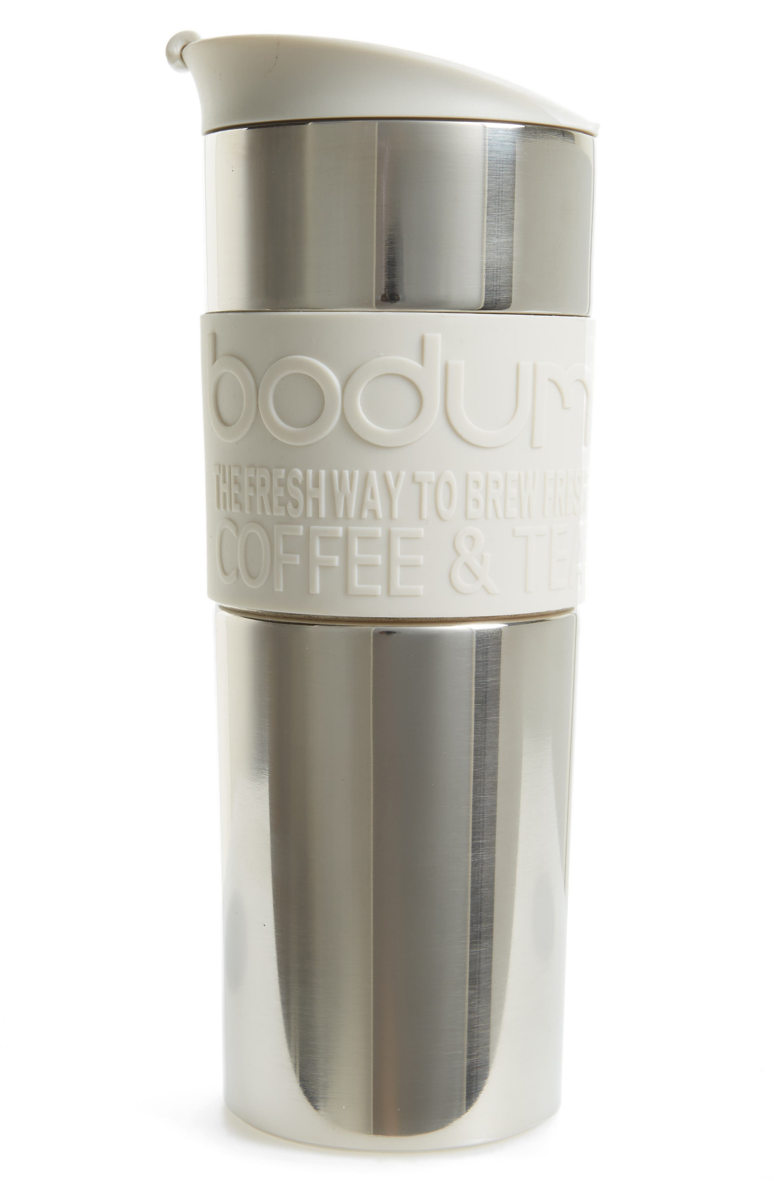 Travel French Press,                         Main,                         color, Off White
