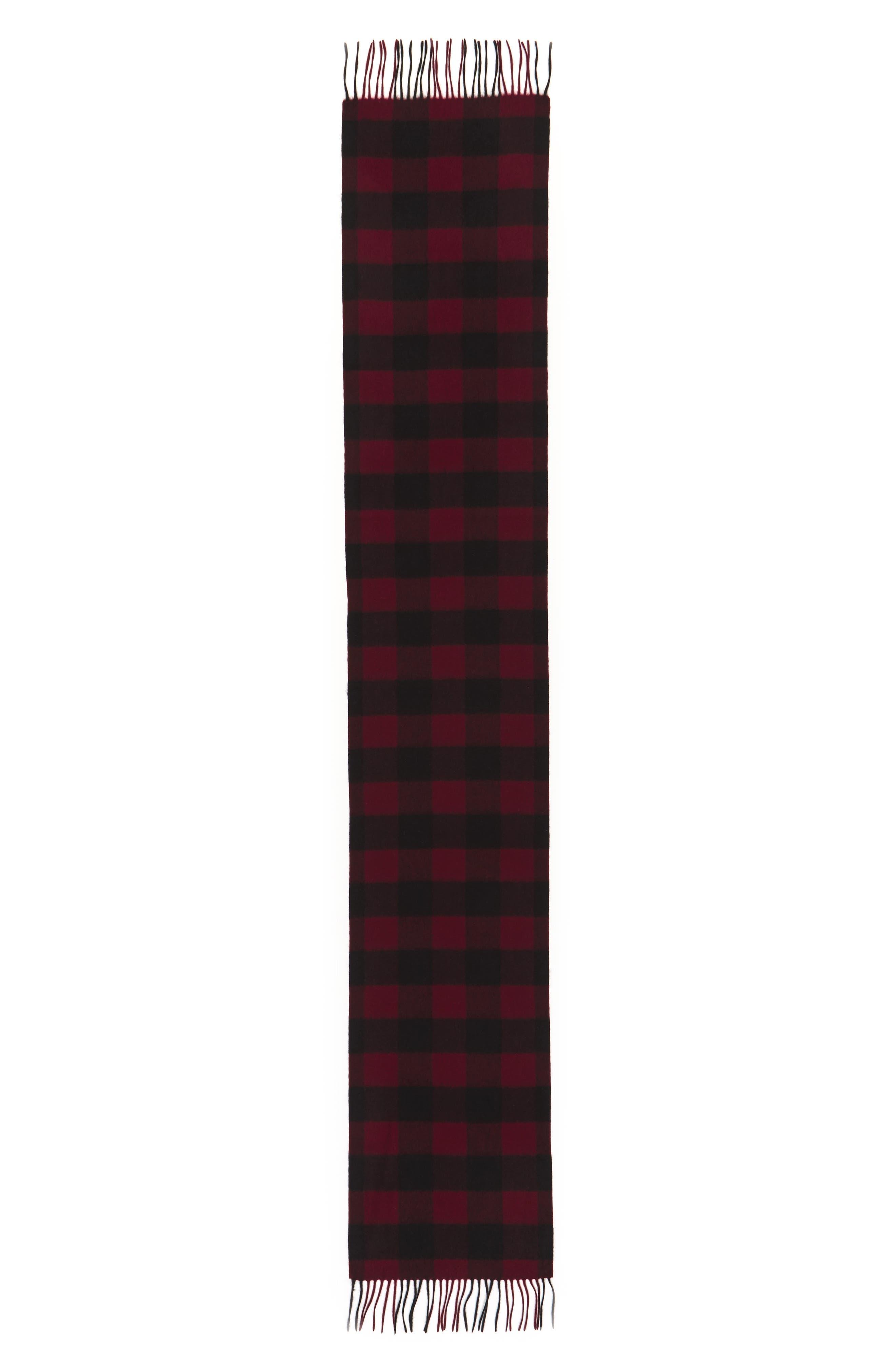 Alternate Image 2  - Nordstrom Men's Shop Check Cashmere Scarf