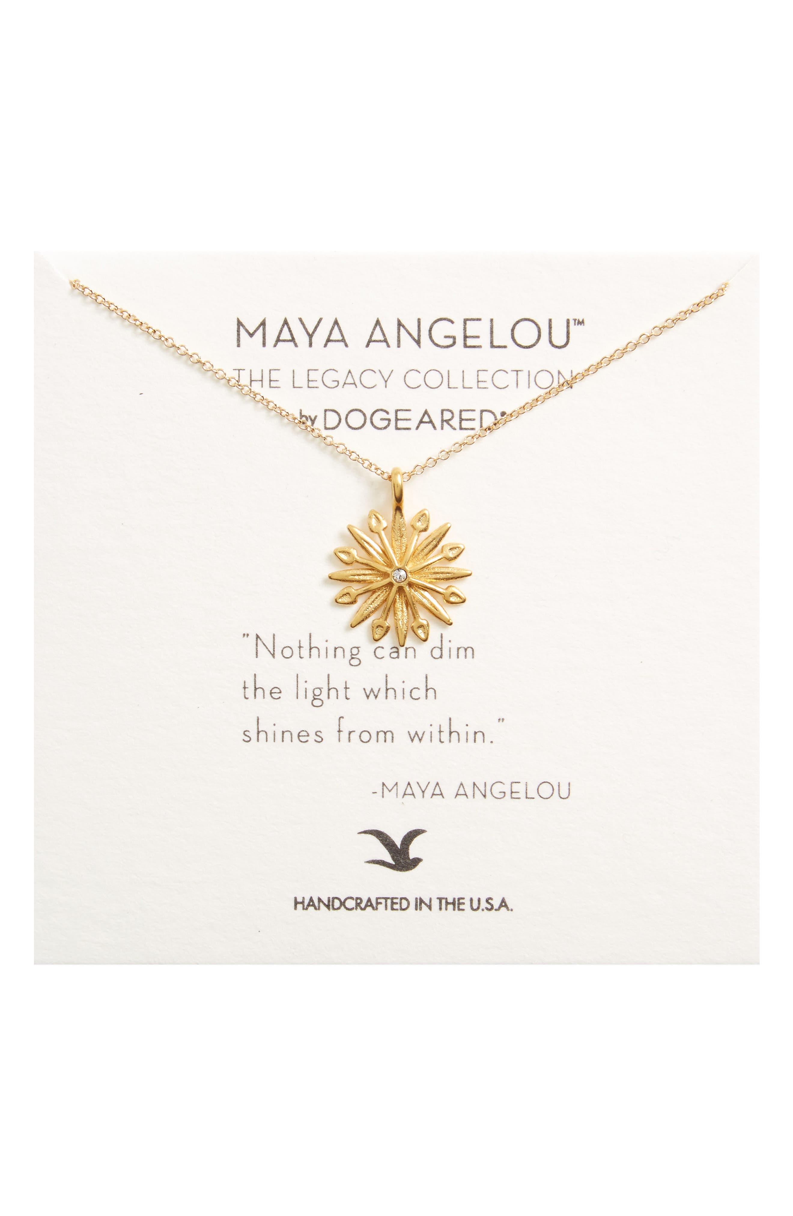 Main Image - Dogeared Starburst Charm Pendant Necklace