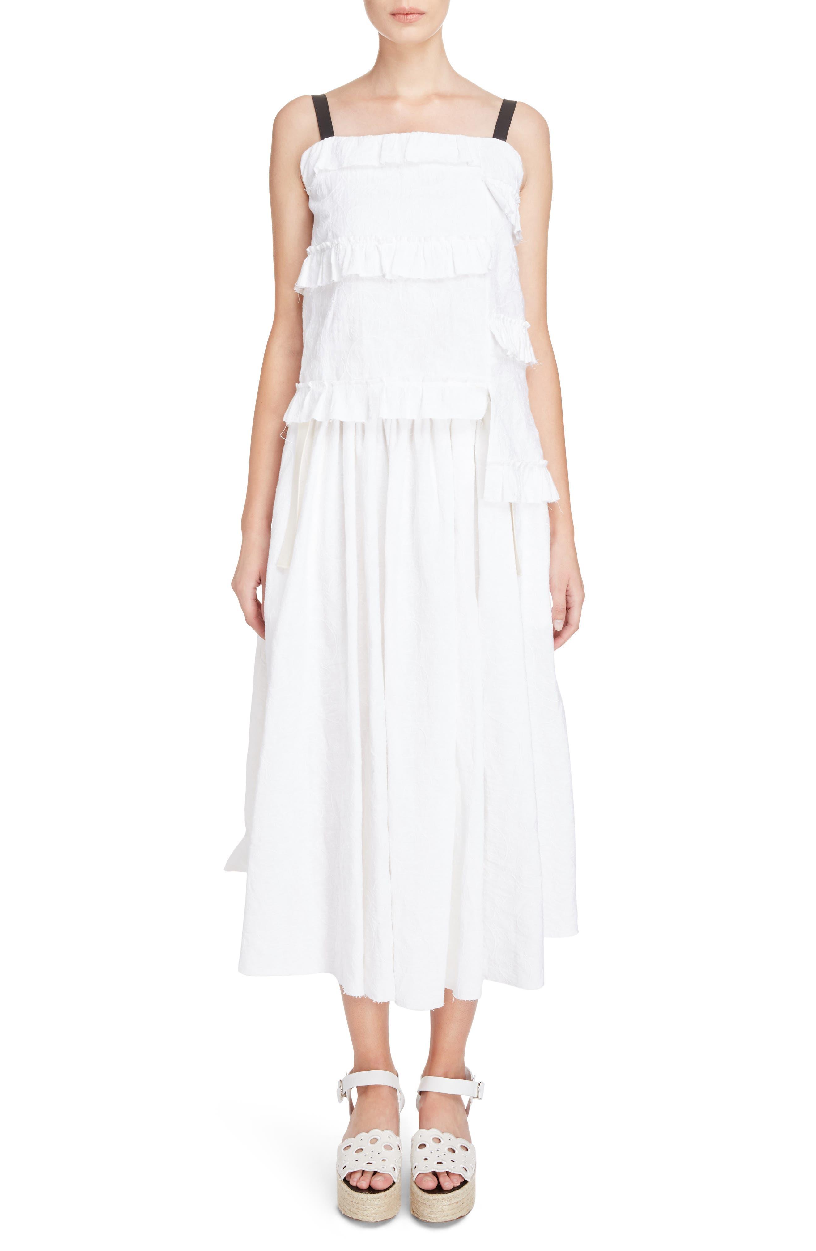 Alternate Image 6  - Loewe Drawstring Waist Broderie Anglaise Skirt