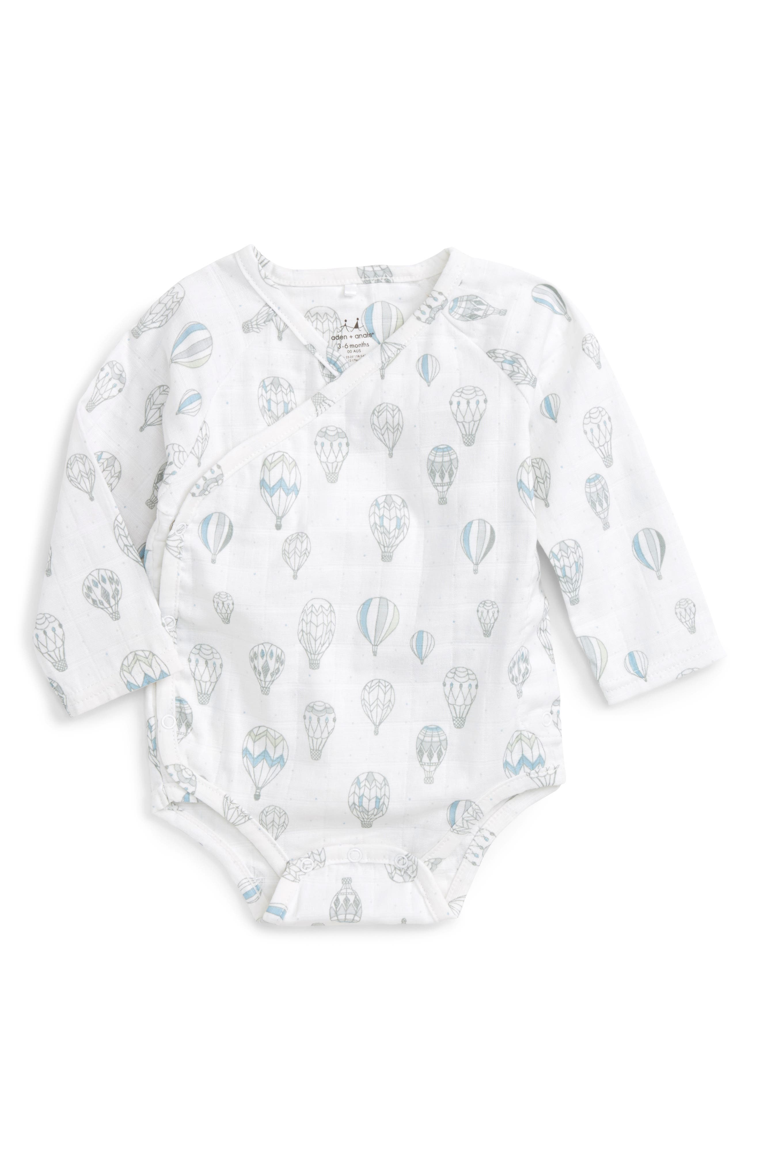 aden + anais Long Sleeve Kimono Bodysuit (Baby)