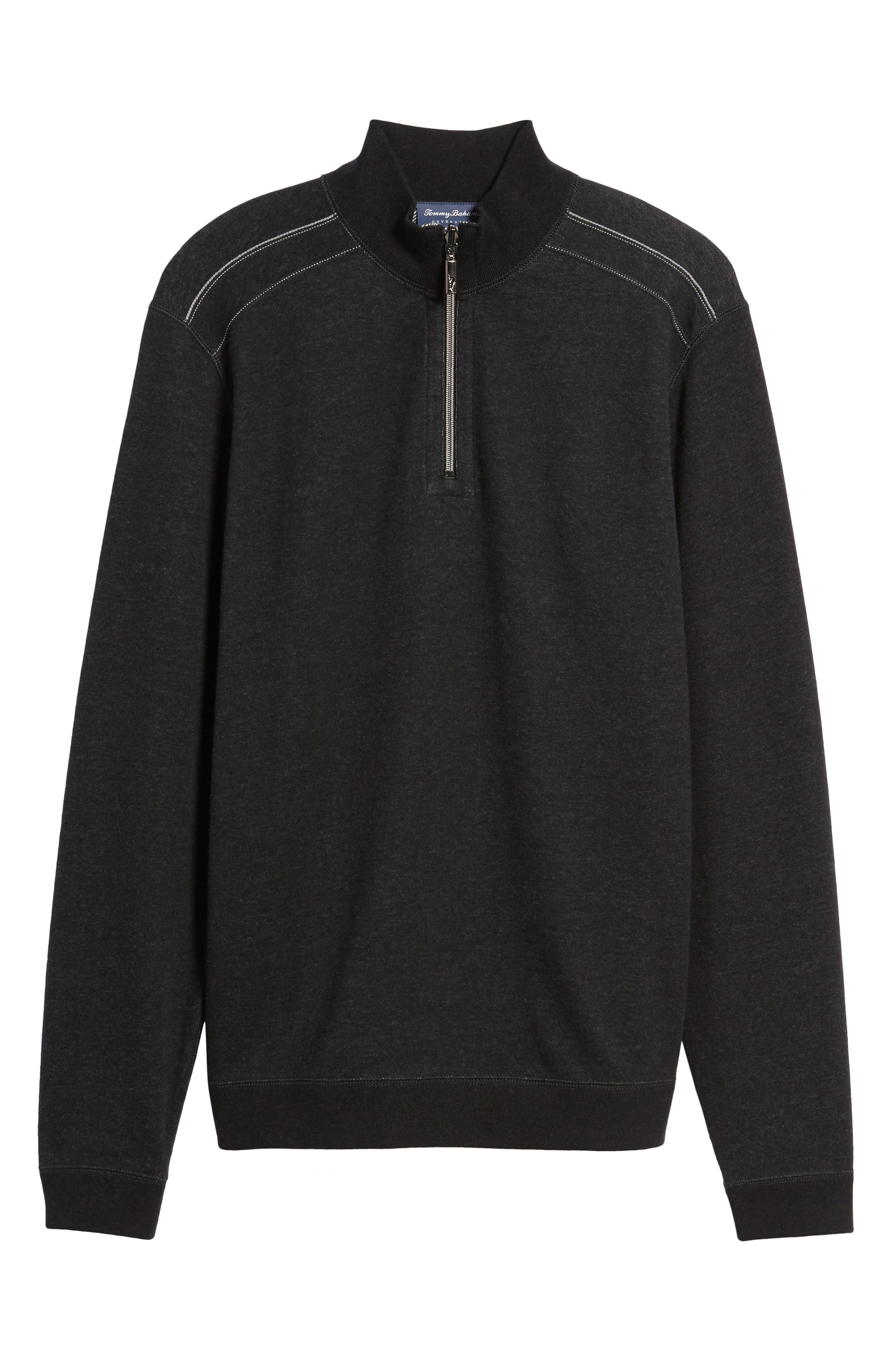 Flip Drive Quarter Zip Pullover,                             Alternate thumbnail 5, color,                             Black