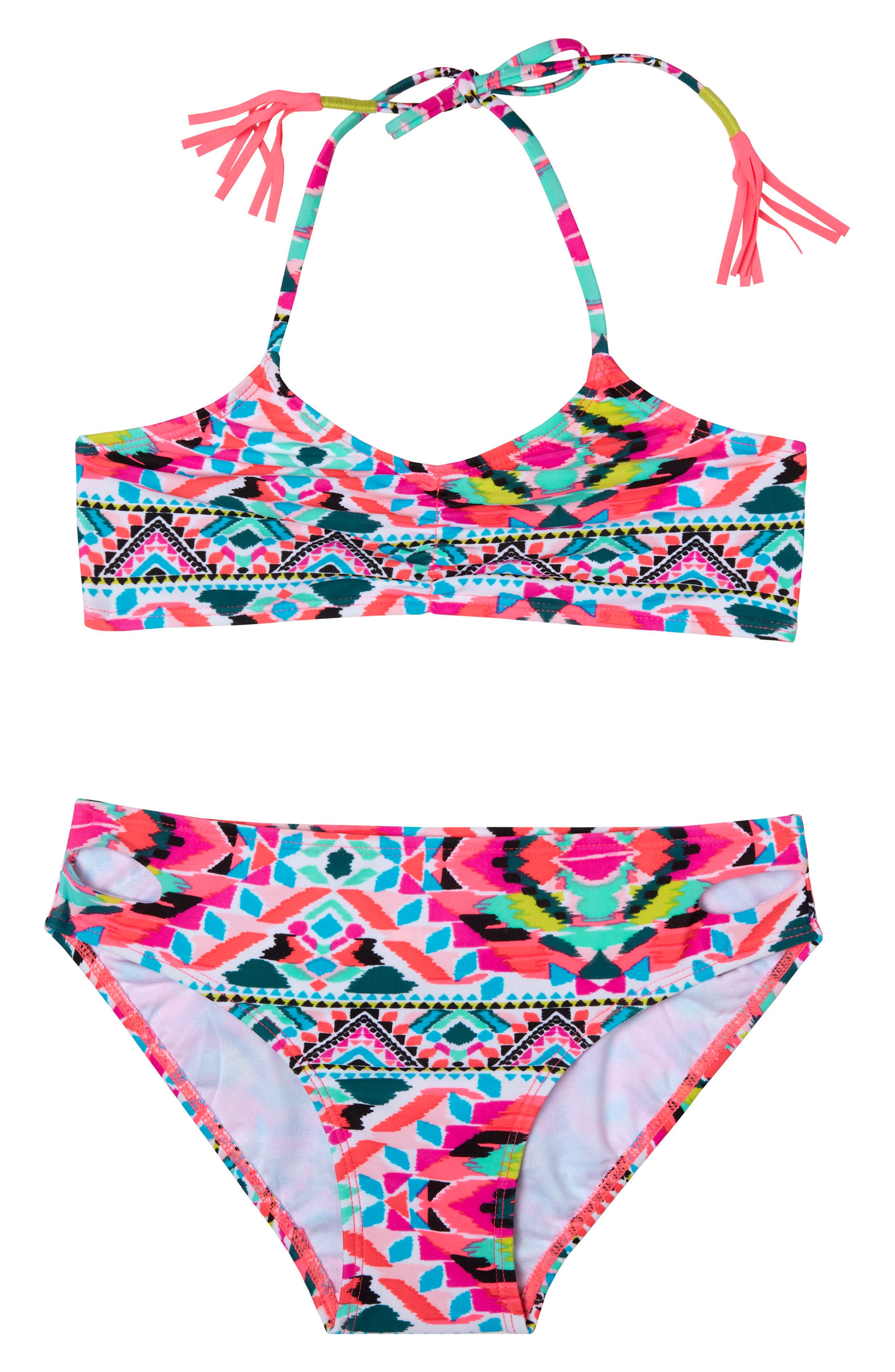 Surfside Solstice Two-Piece Swimsuit,                         Main,                         color, Pink