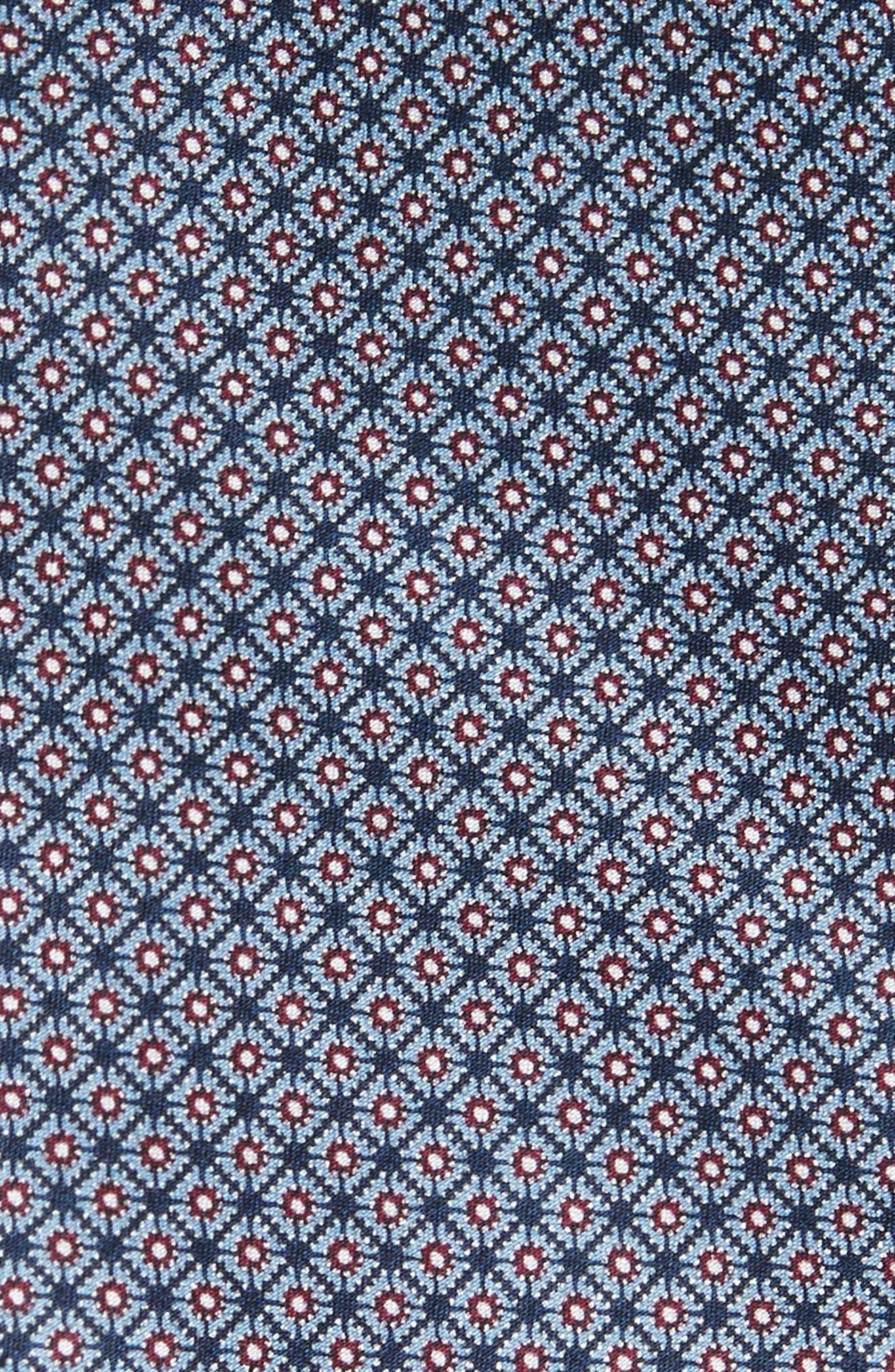 Neat Silk Tie,                             Alternate thumbnail 2, color,                             Blue