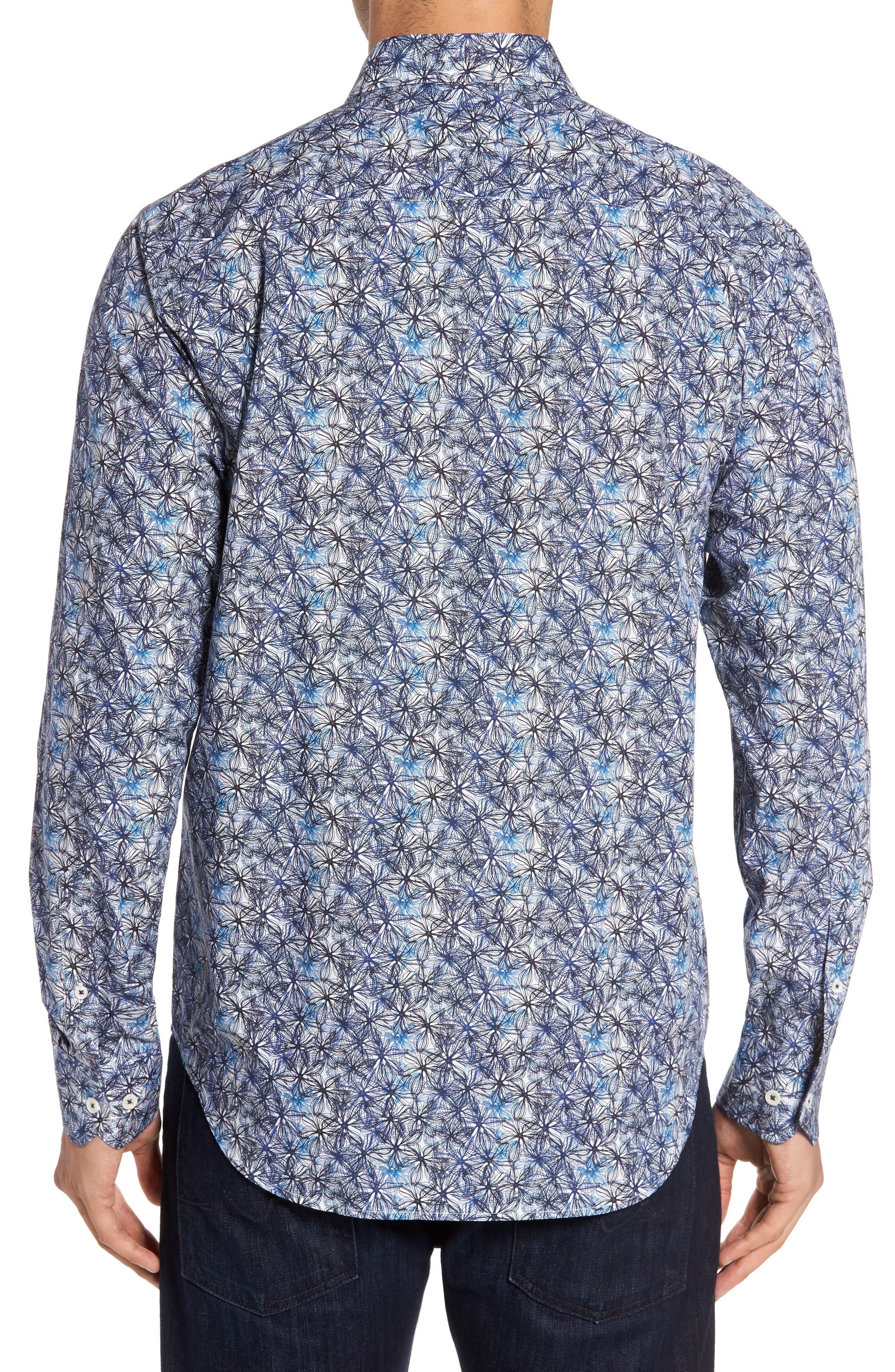 Alternate Image 2  - Bugatchi Trim Fit Print Sport Shirt