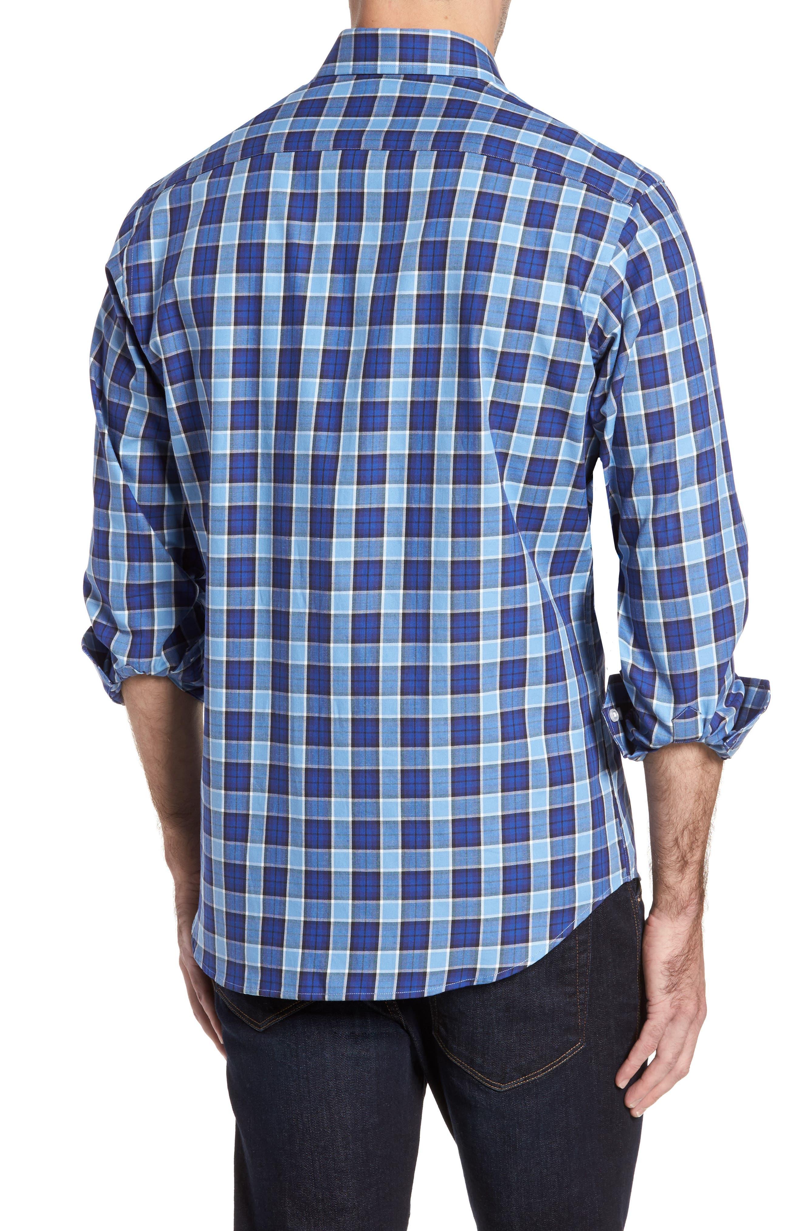Alternate Image 2  - TailorByrd Brownsville Windowpane Check Twill Sport Shirt