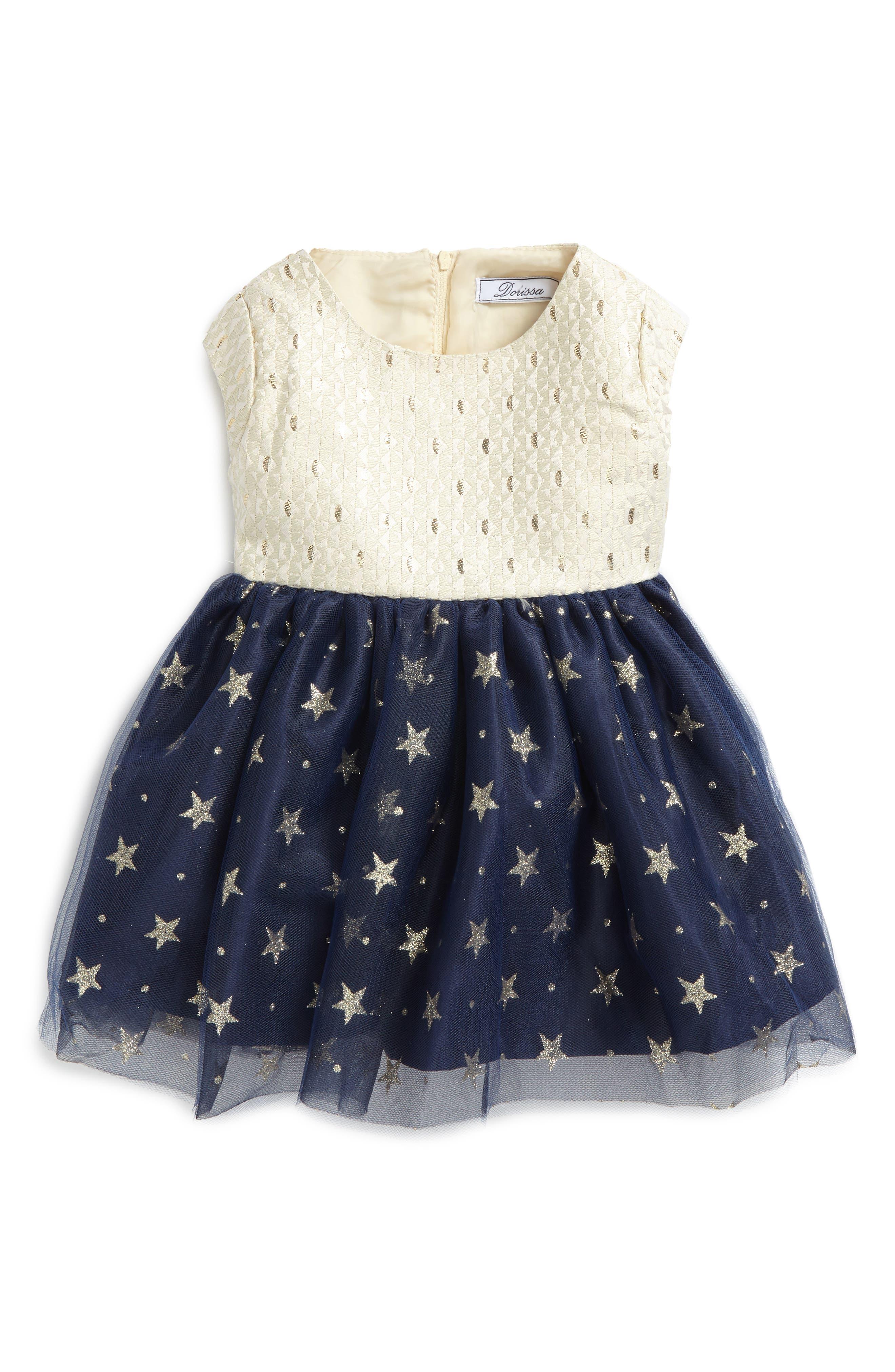 Main Image - Dorissa Kerry Fit & Flare Dress (Baby Girls)