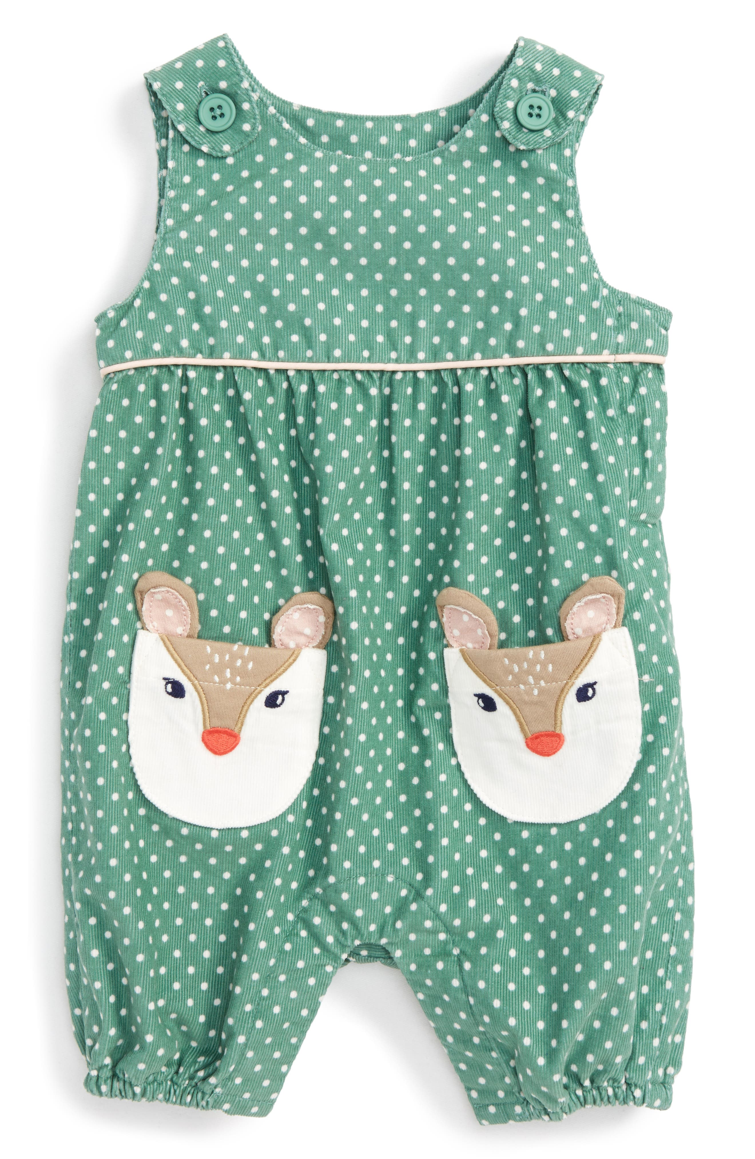 Mini Boden Fun Corduroy Romper (Baby Girls & Toddler Girls)