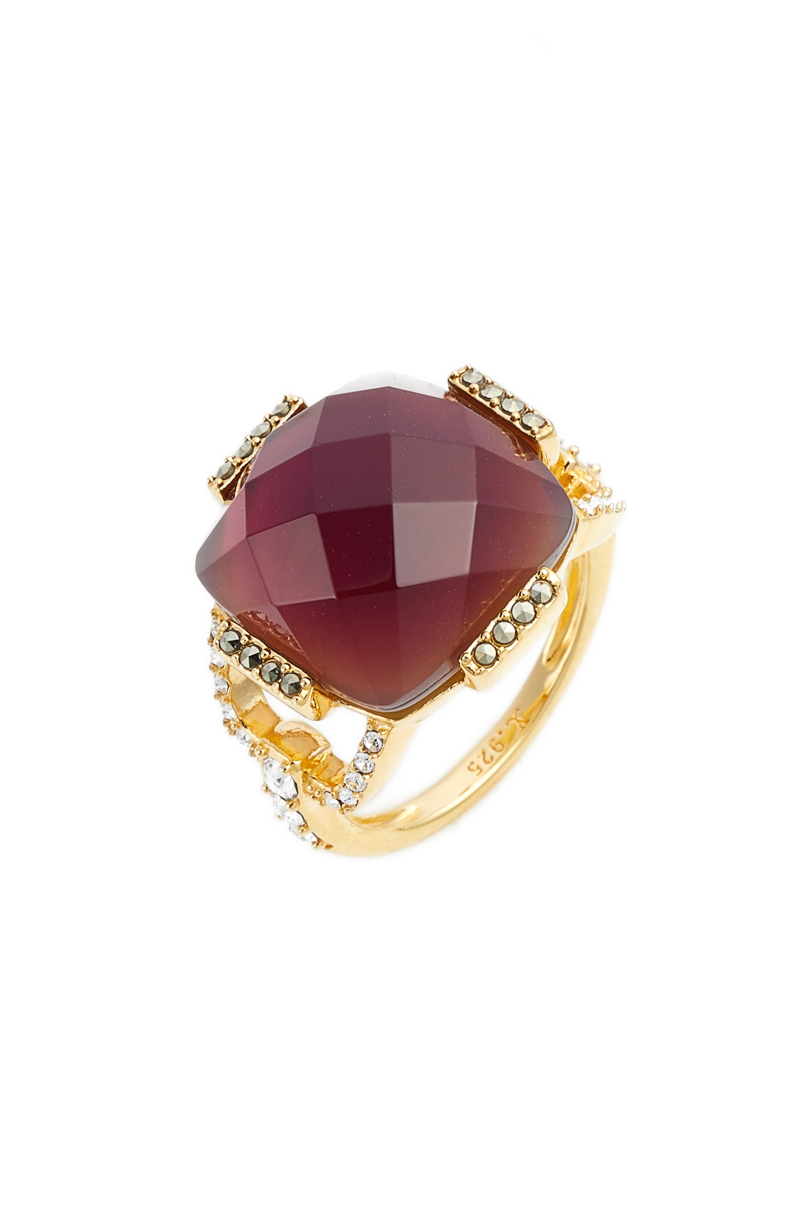Crystal Ring,                         Main,                         color, Blush/ Gold