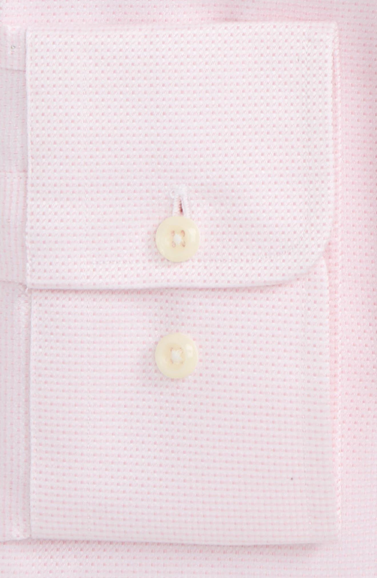 Trim Fit Microdot Dress Shirt,                             Alternate thumbnail 2, color,                             Pink