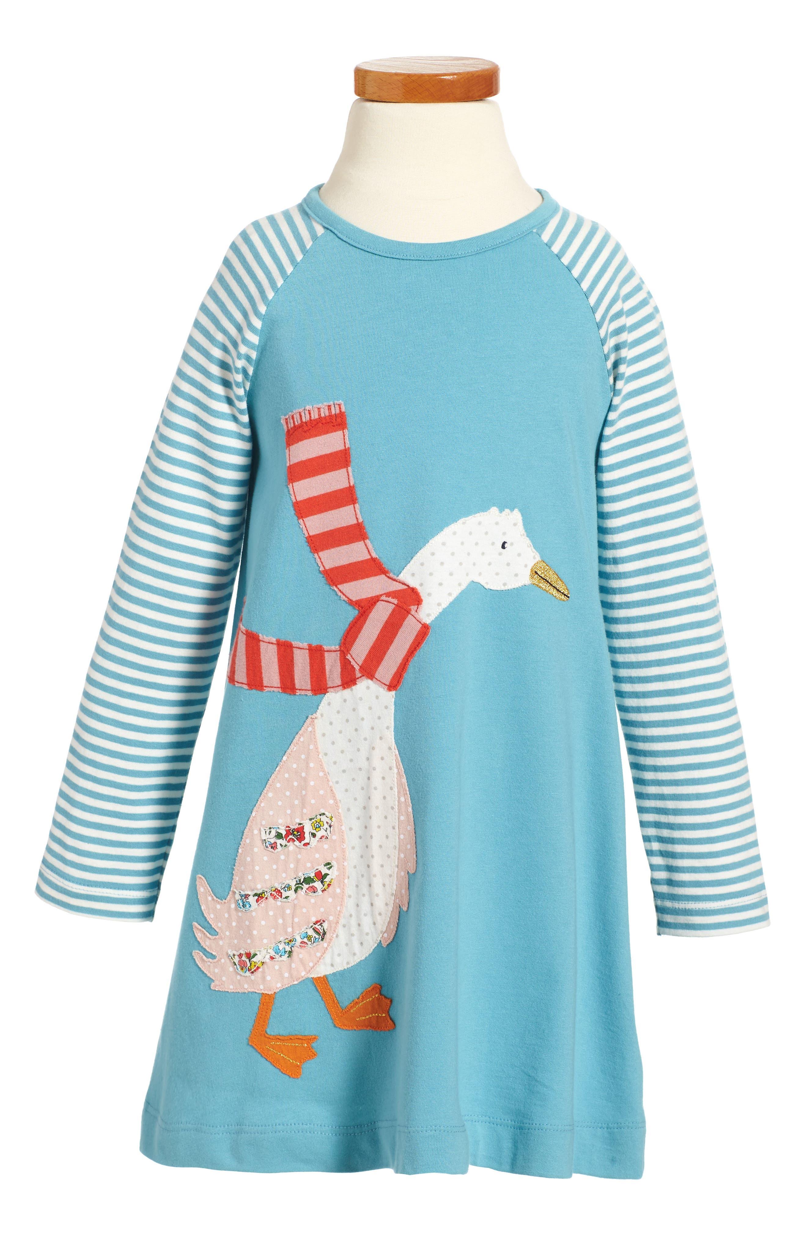 Big Appliqué Jersey Dress,                         Main,                         color, Frost Blue Duck