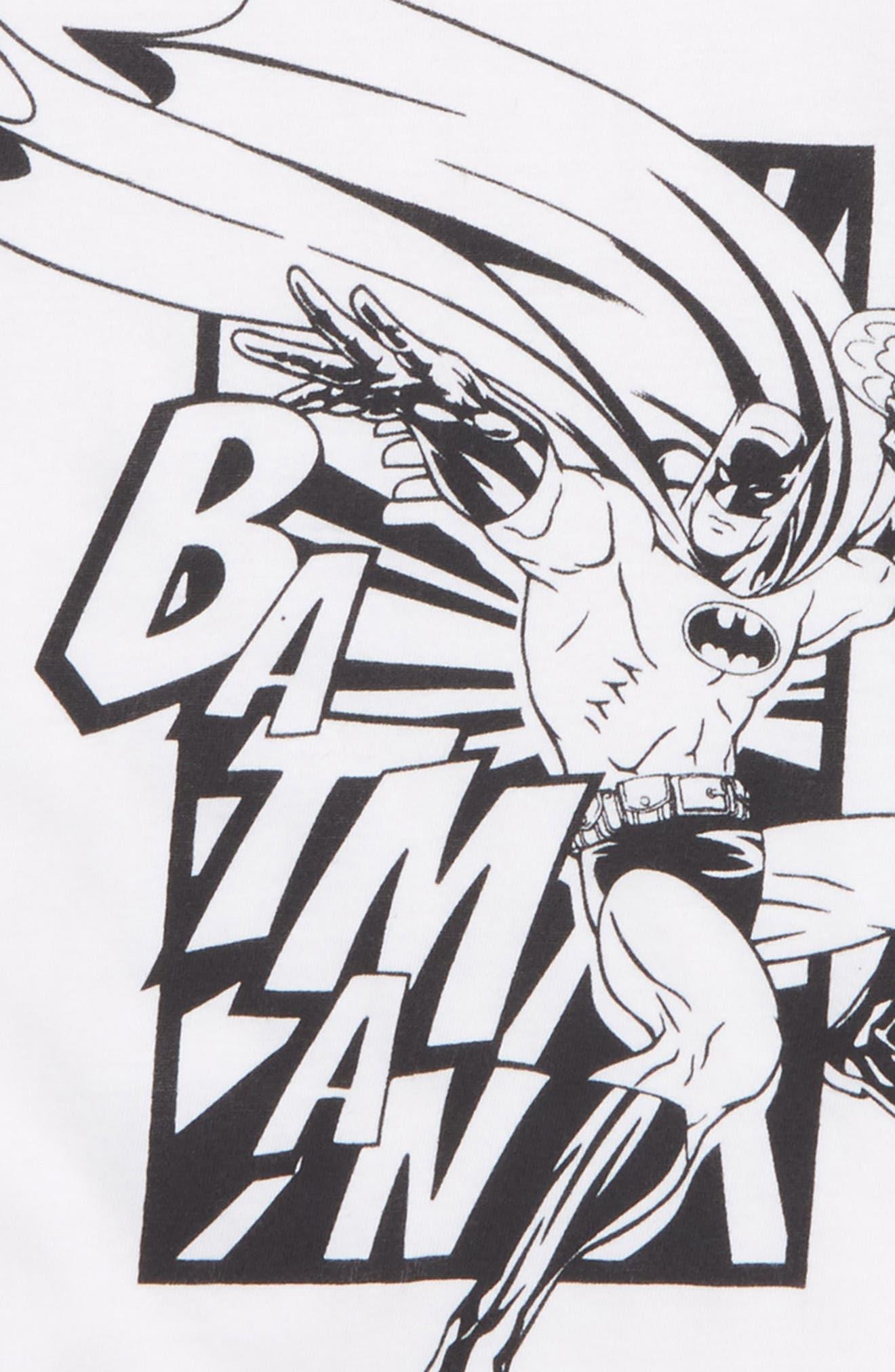 Bat in Town Long Sleeve T-Shirt,                             Alternate thumbnail 2, color,                             White