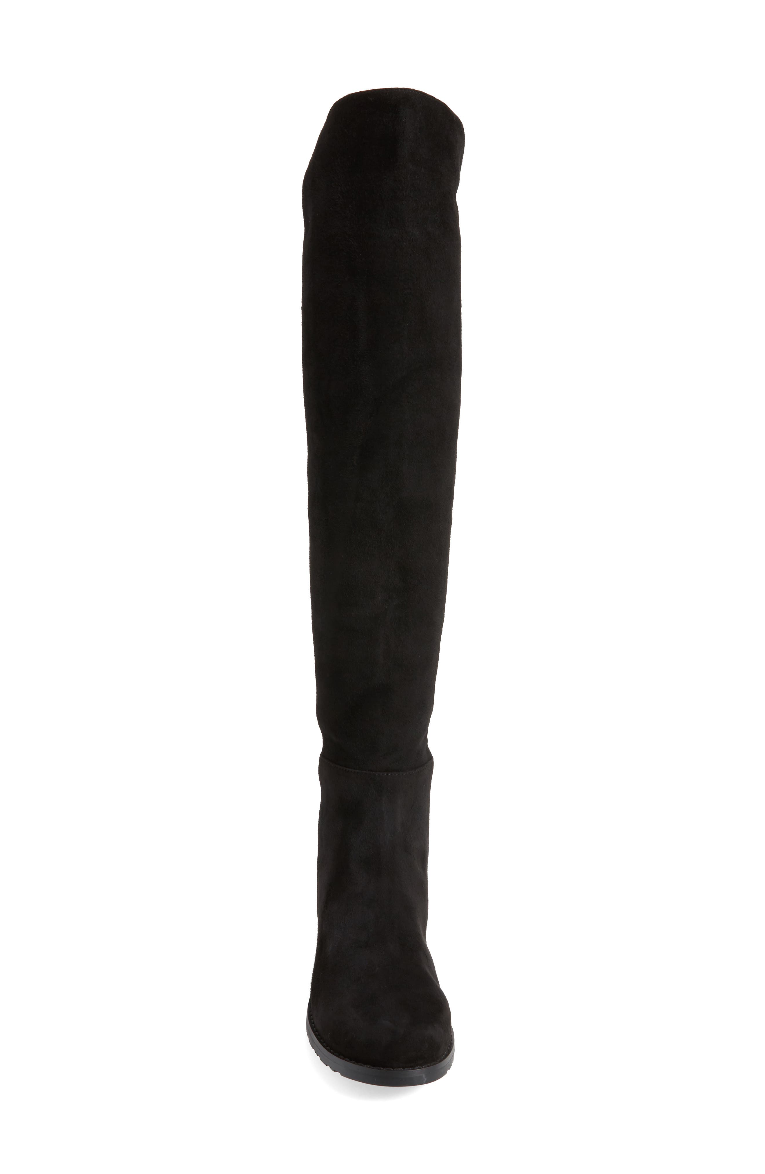 Panache Tall Boot,                             Alternate thumbnail 4, color,                             Black Suede