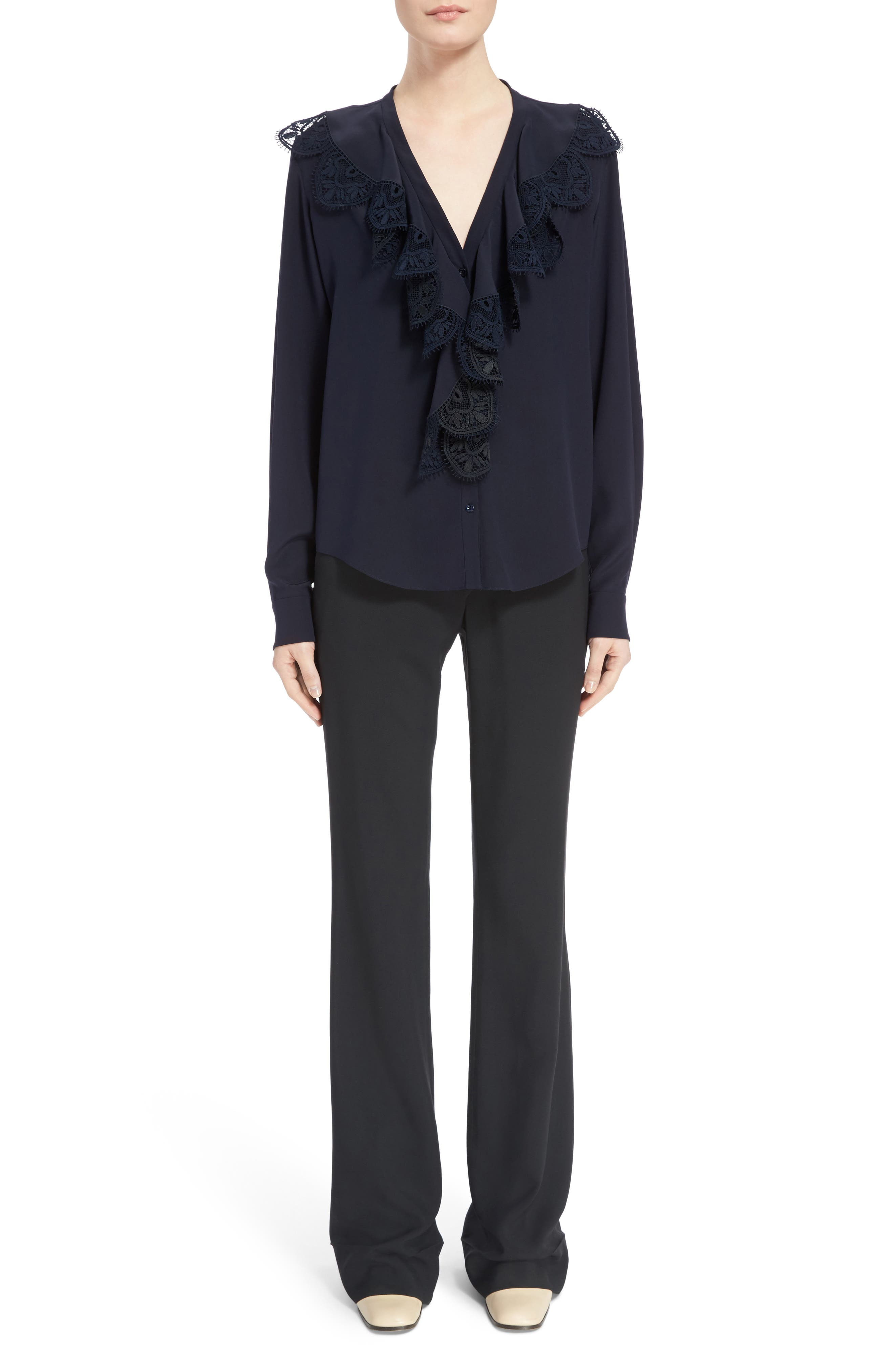 Alternate Image 6  - Chloé Asymmetrical Button Flare Cady Pants