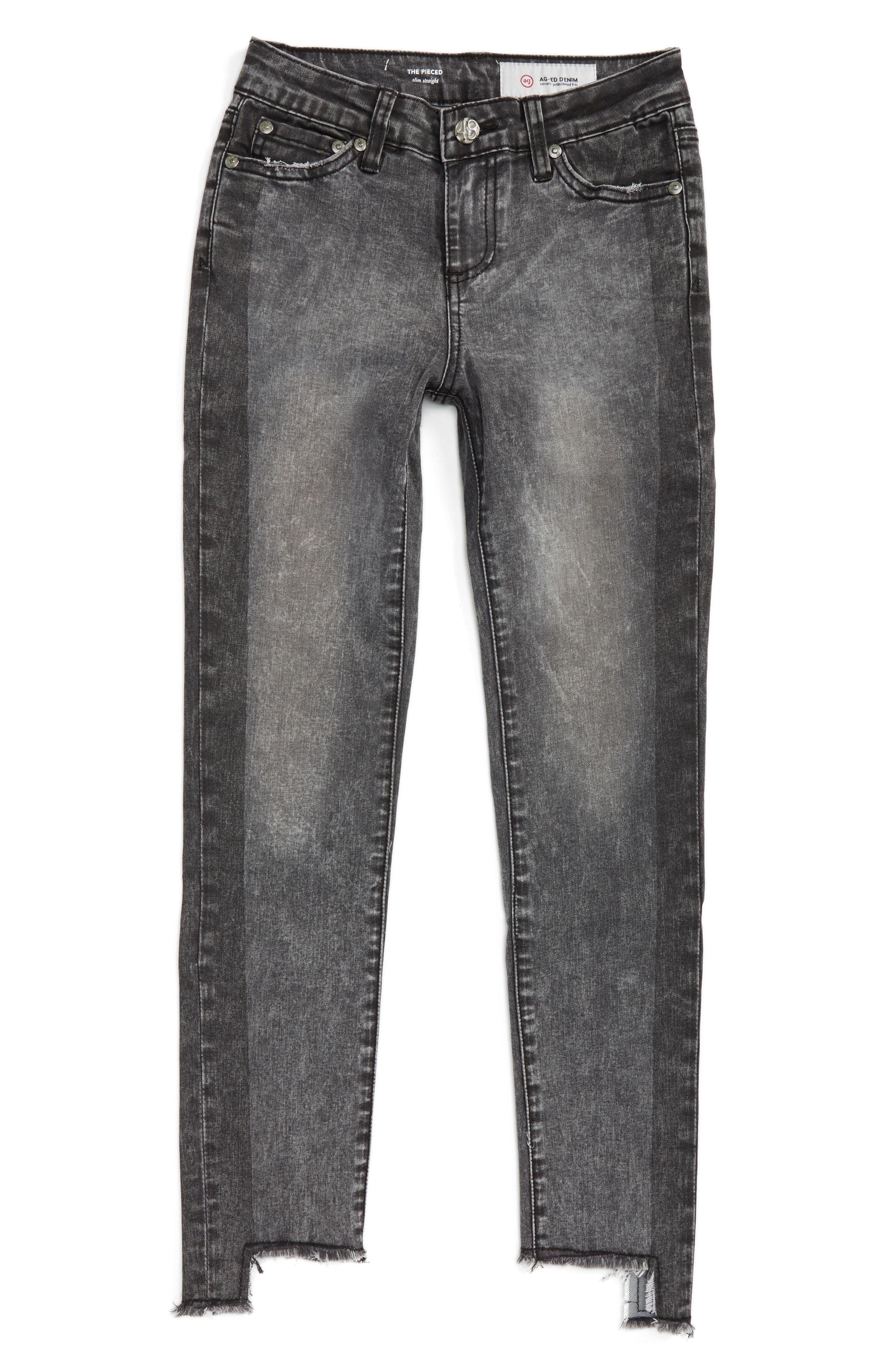 ag adriano goldschmied kids The Pieced Slim Straight Leg Jeans (Big Girls)