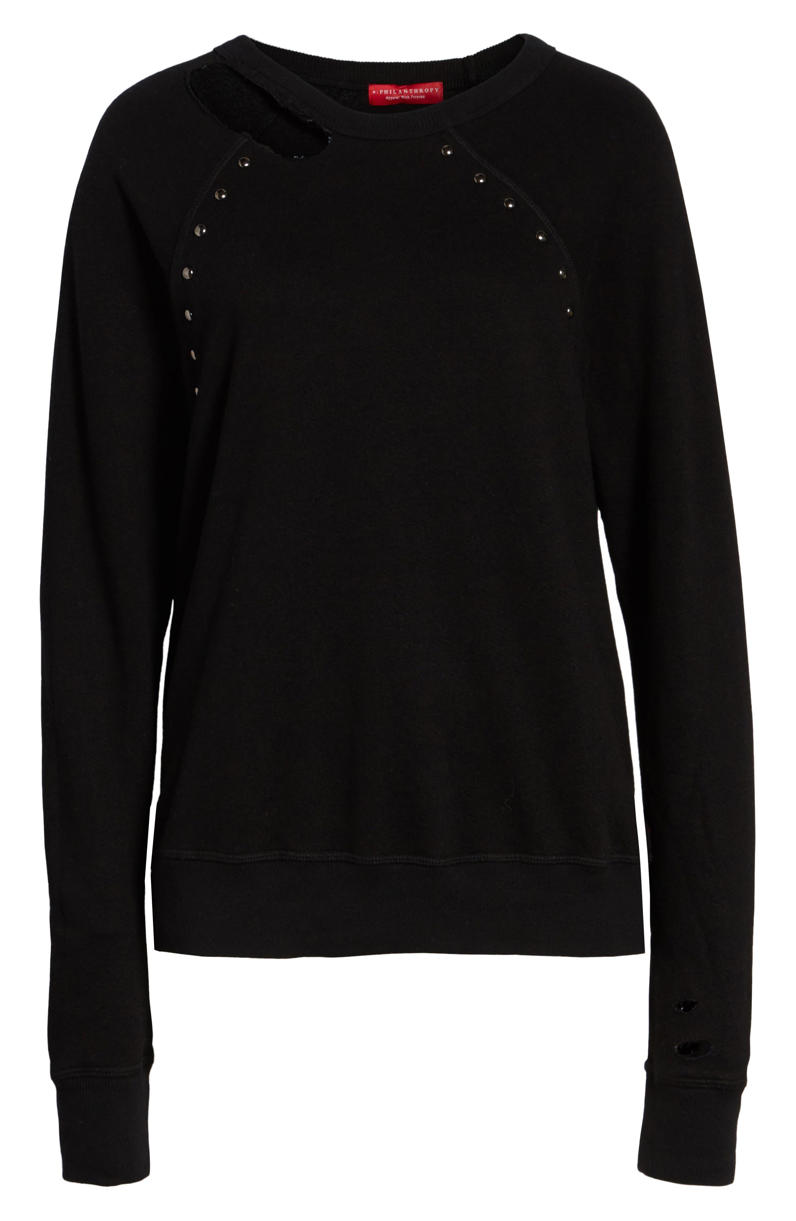 Alternate Image 6  - n:PHILANTHROPY Nic Studded Sweatshirt