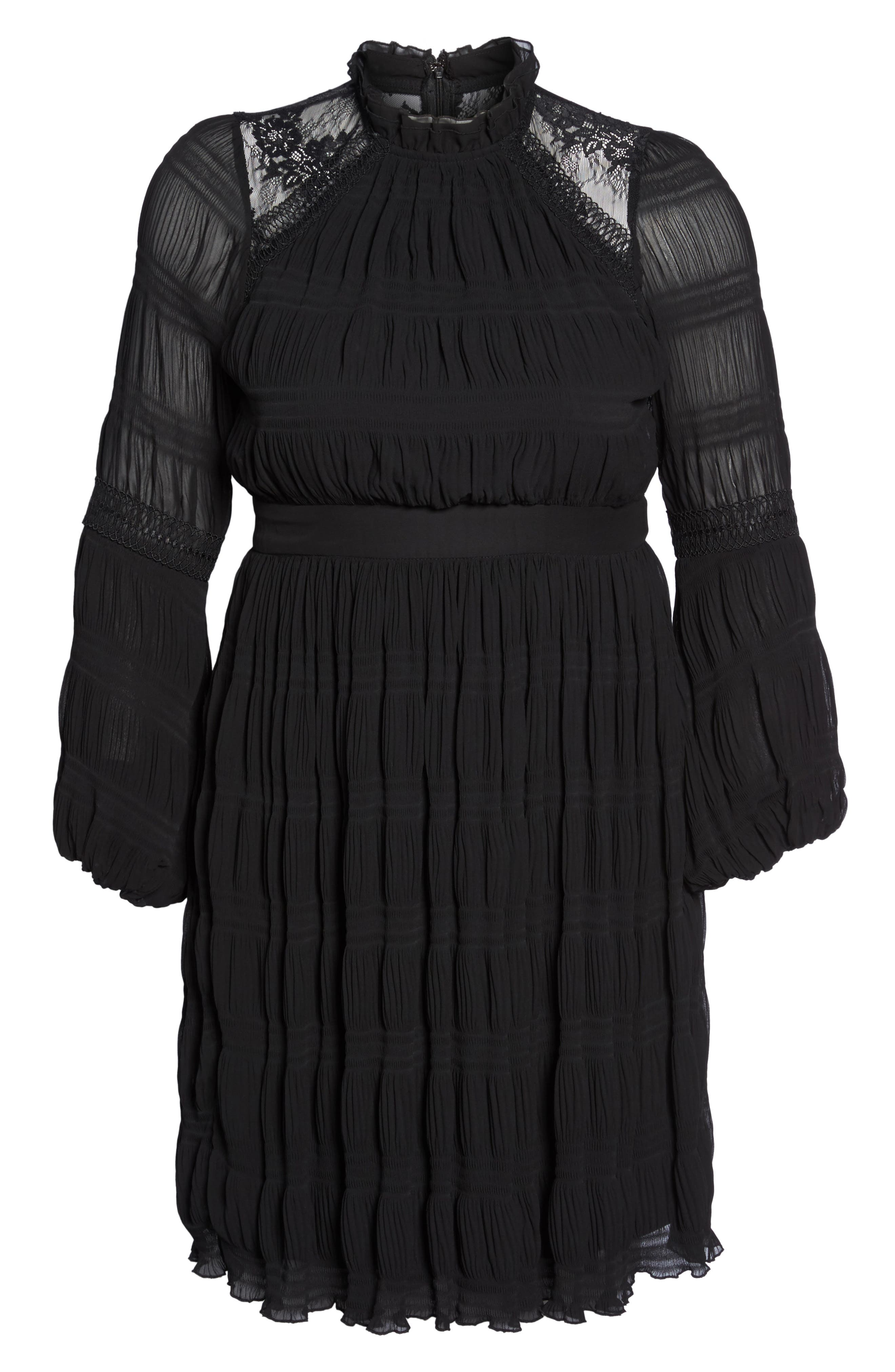 Alternate Image 7  - LOST INK Lace Back Skater Dress (Plus Size)
