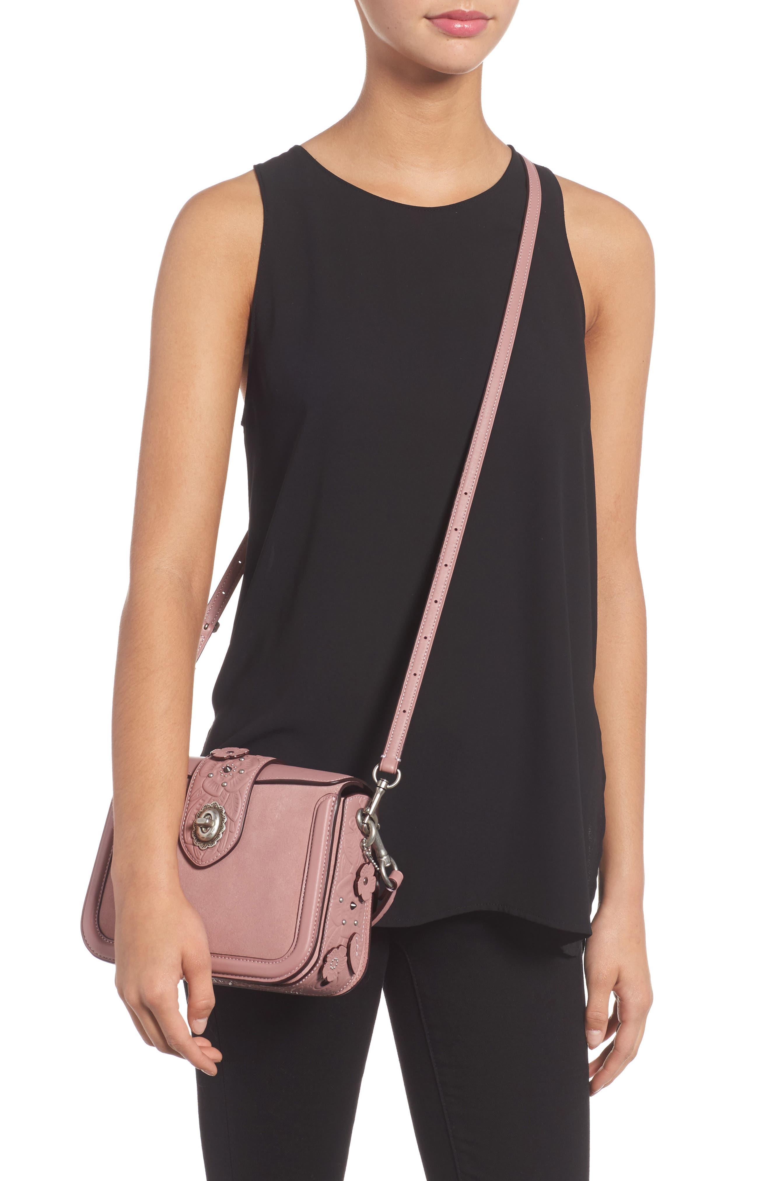 Alternate Image 2  - COACH Page Tea Rose Calfskin Leather Top Handle Satchel