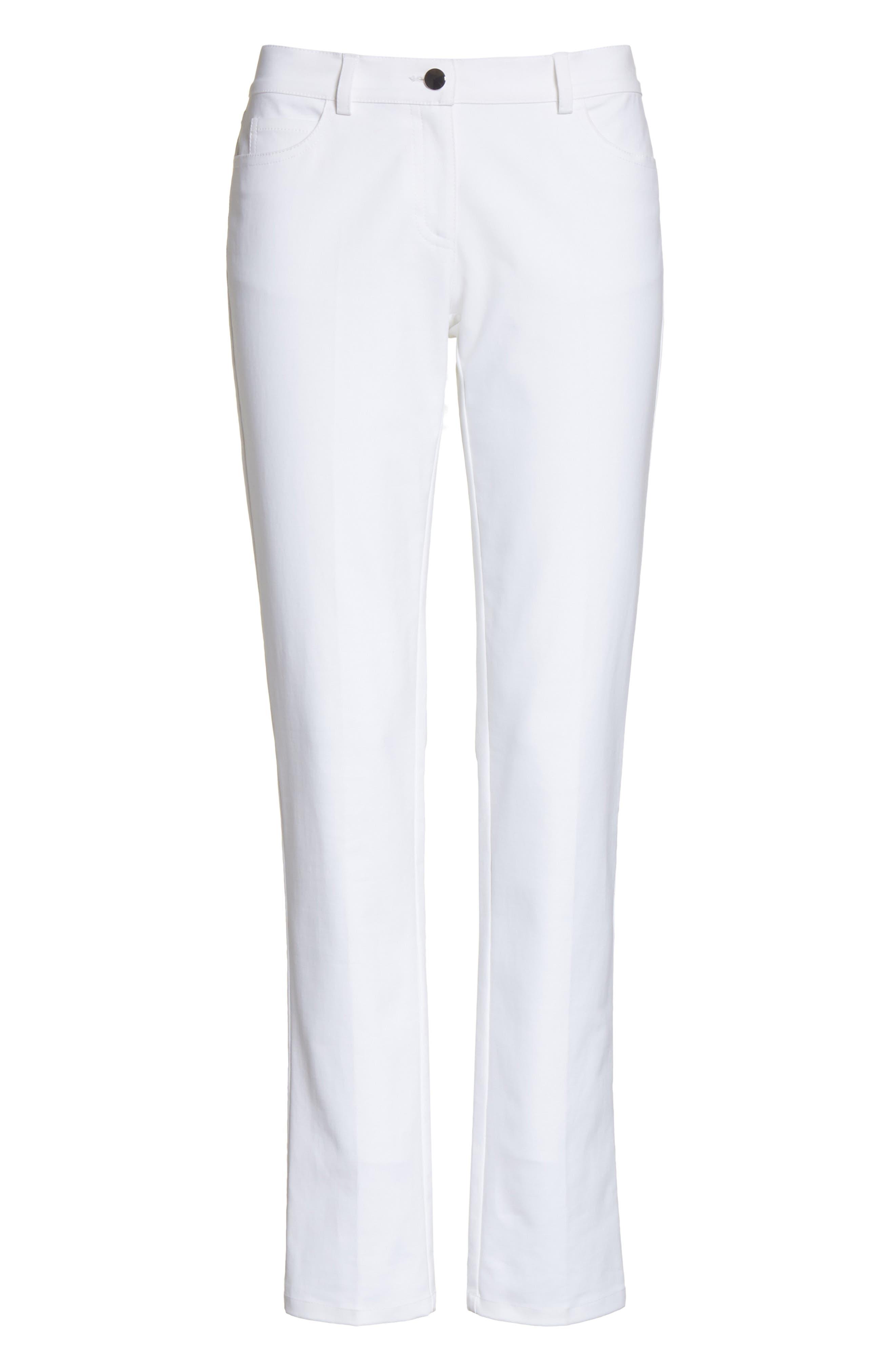 Alternate Image 6  - Michael Kors Samantha Skinny Jeans (Optic White)