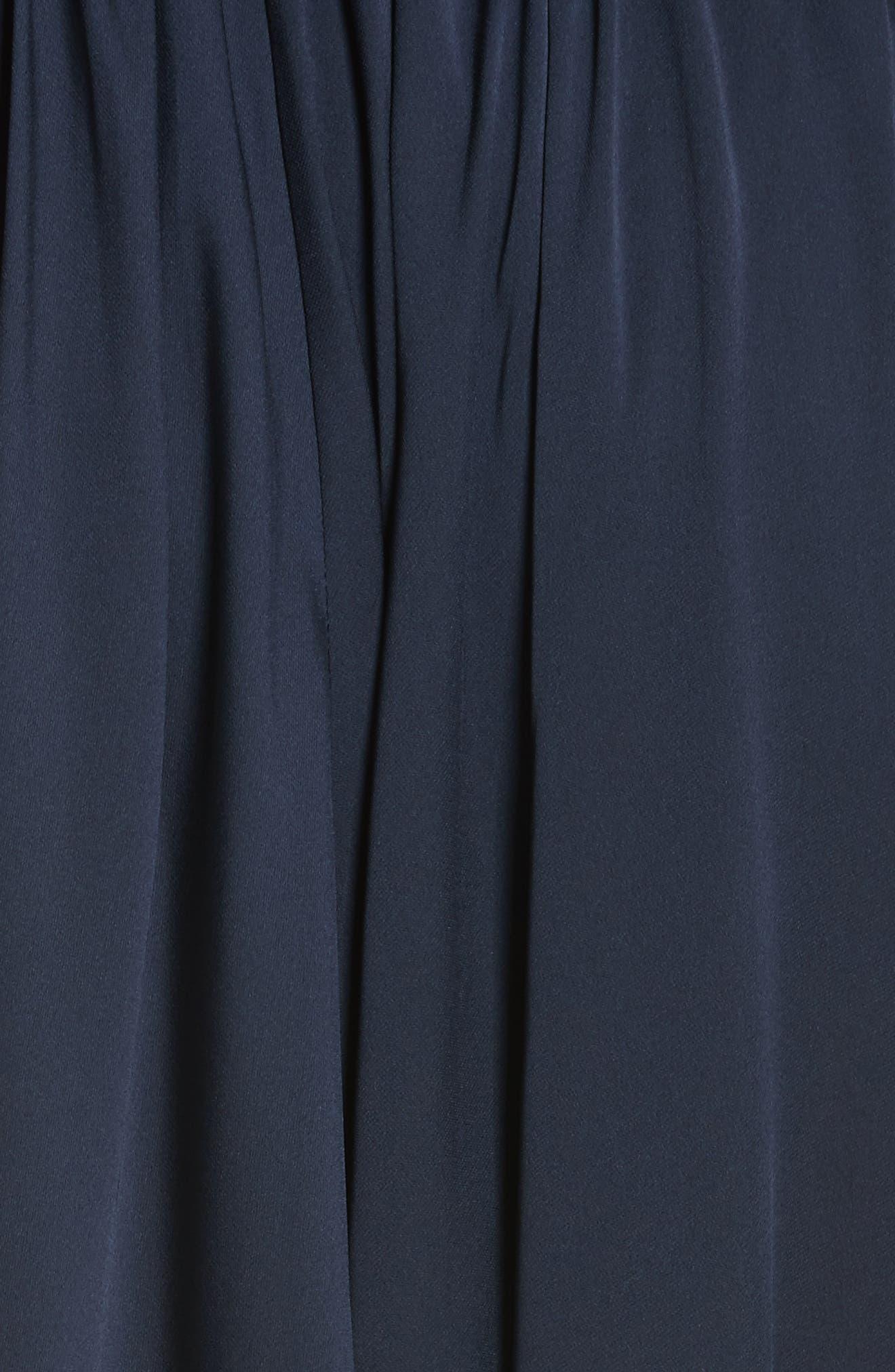 Zoey Stretch Silk Maxi Dress,                             Alternate thumbnail 5, color,                             Navy