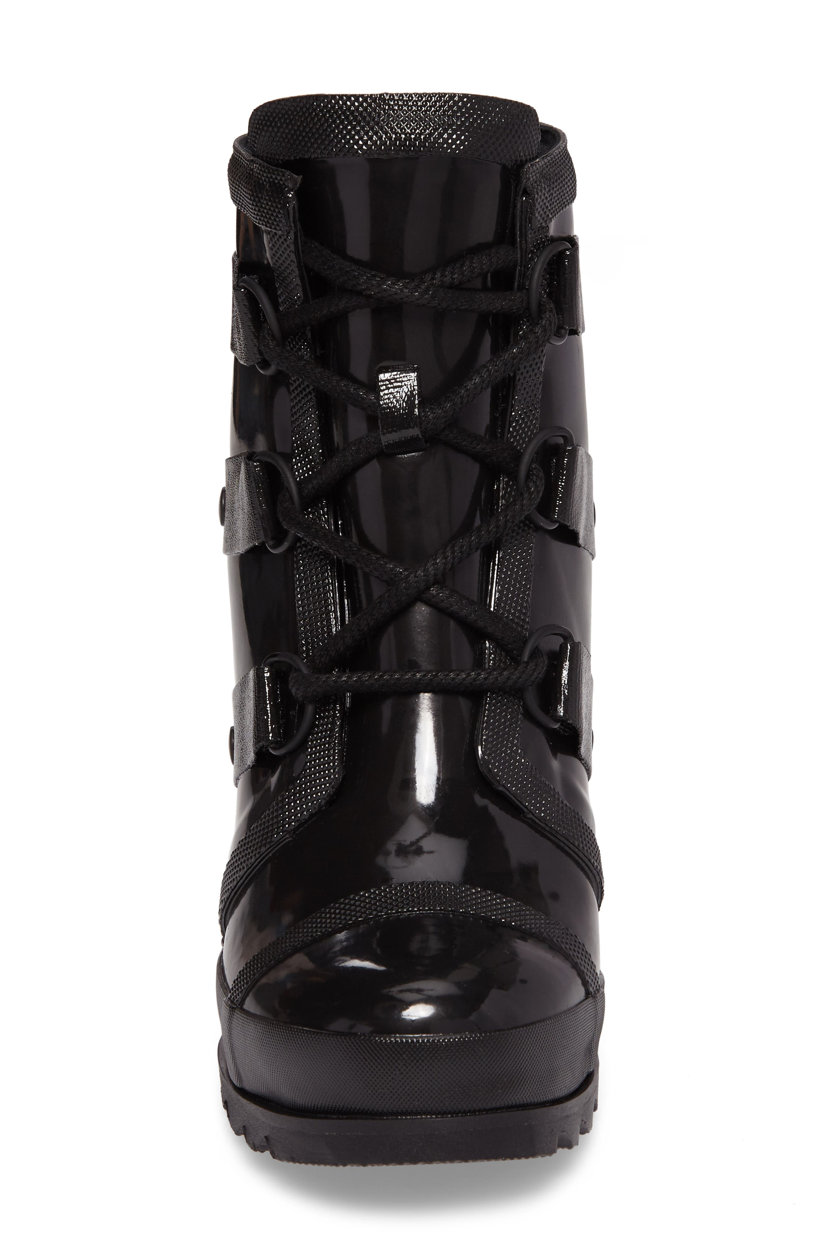 Alternate Image 4  - SOREL Joan Glossy Wedge Rain Boot (Women)