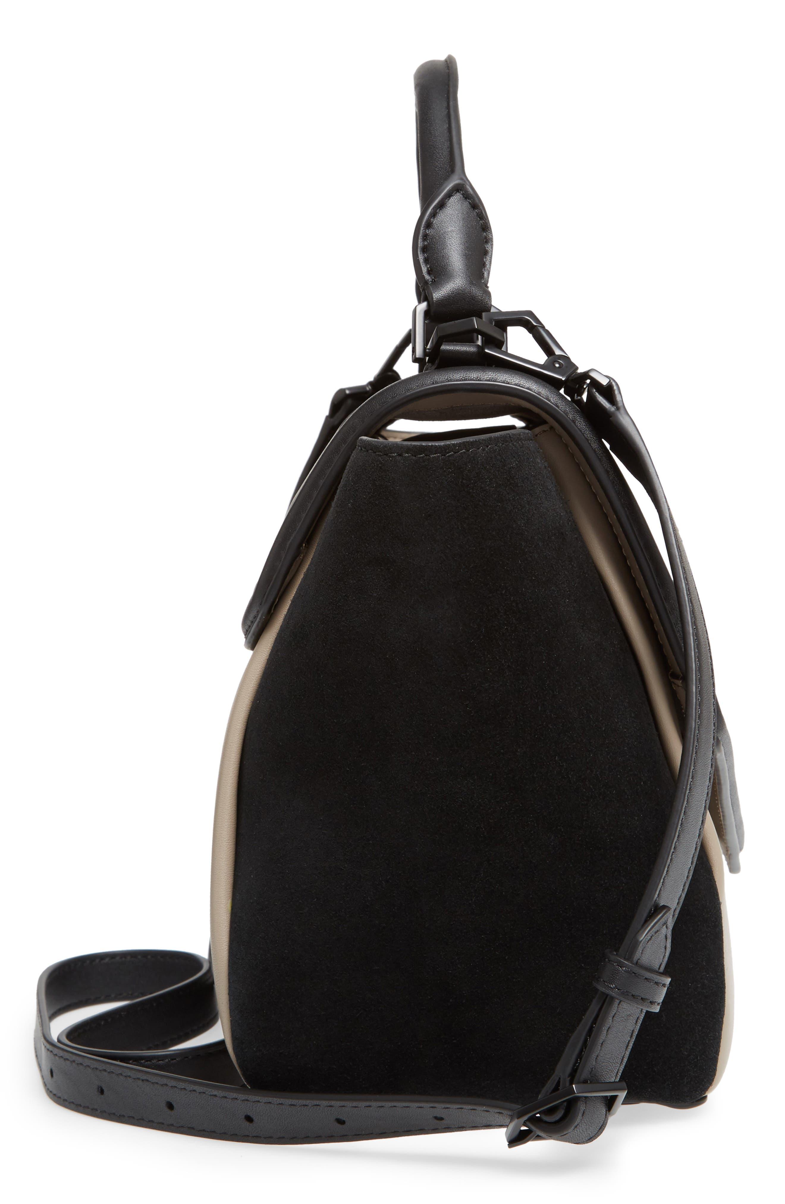 Alternate Image 4  - WELDEN Small Saunter Colorblocked Leather & Suede Top Handle Satchel