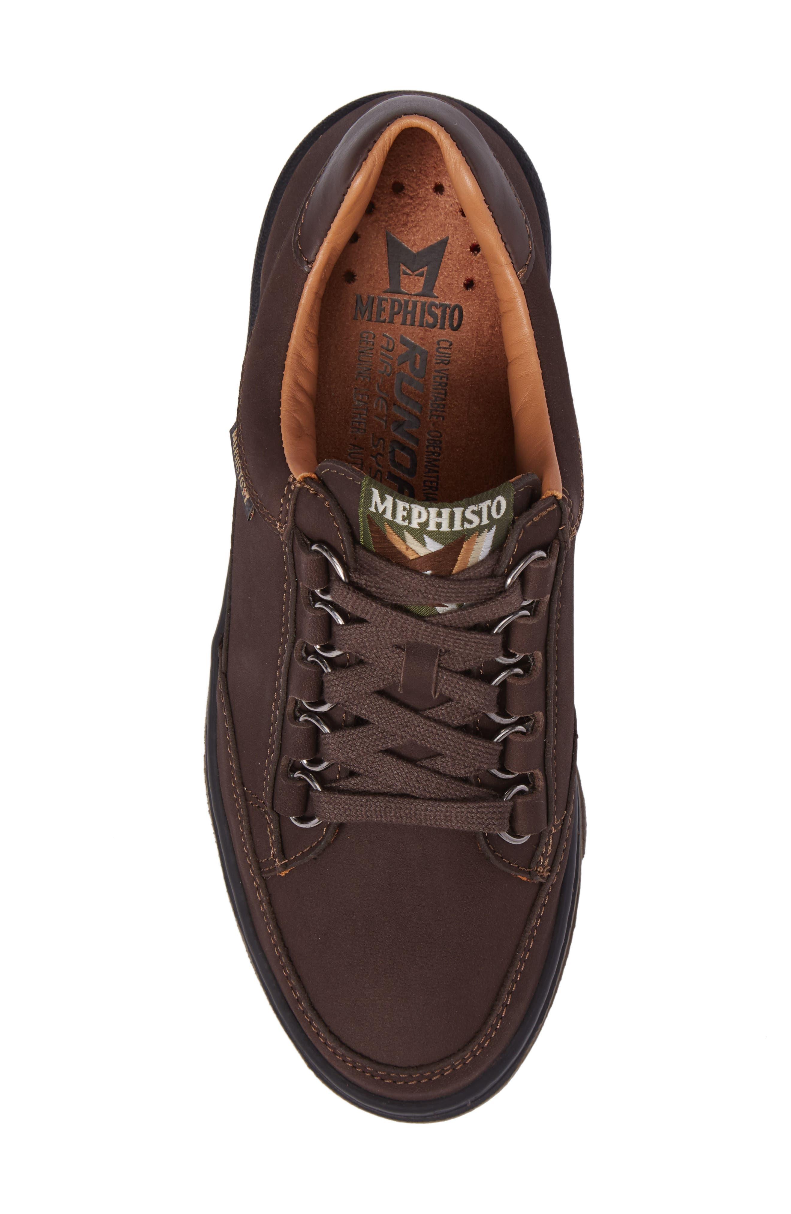 Natasha Sneaker,                             Alternate thumbnail 5, color,                             Dark Brown Leather