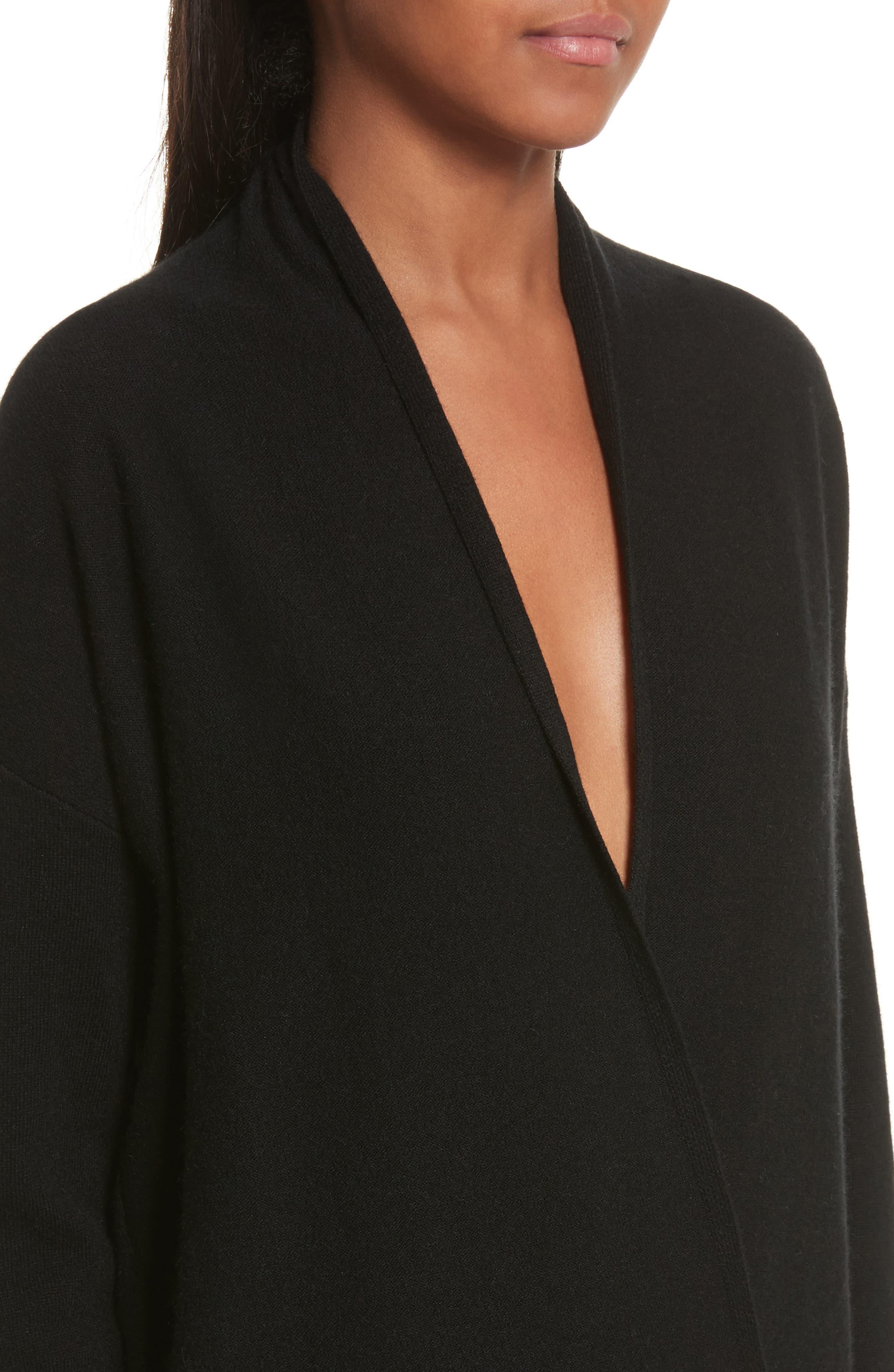 Alternate Image 4  - Allude Merino Wool & Cashmere Surplice Sweater