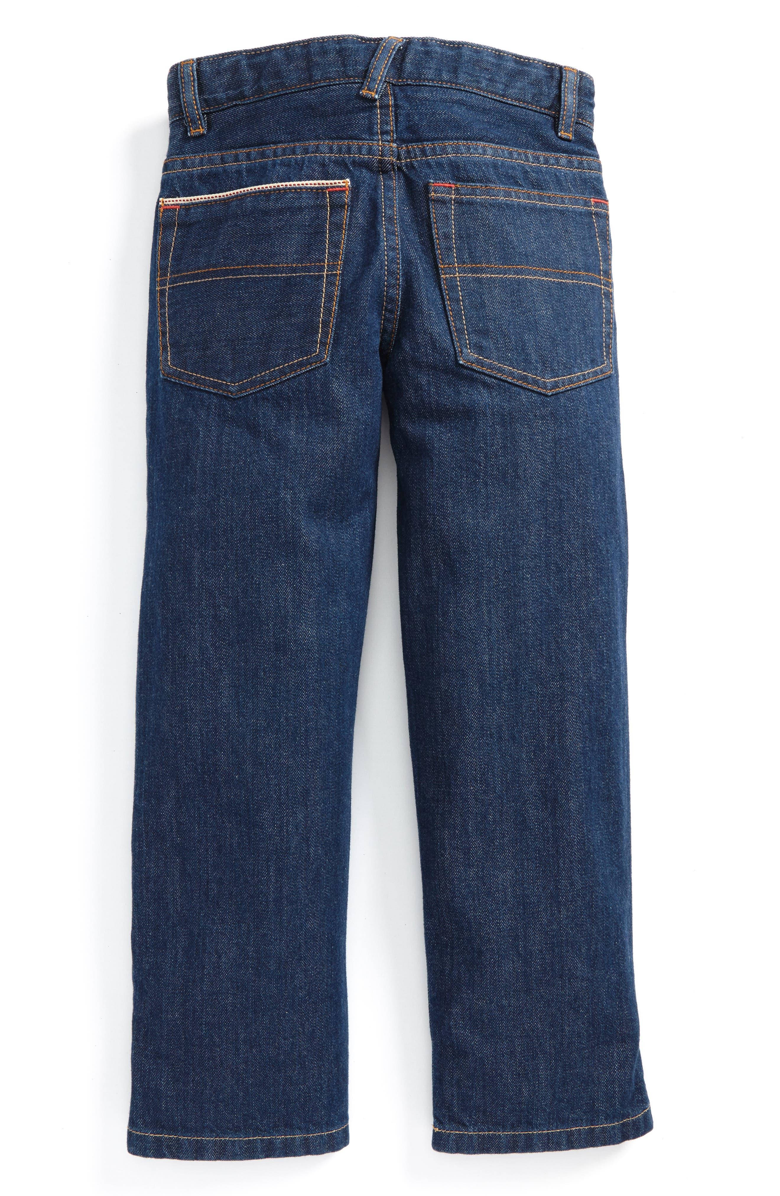 Alternate Image 2  - Mini Boden Straight Leg Jeans (Toddler Boys, Little Boys & Big Boys)