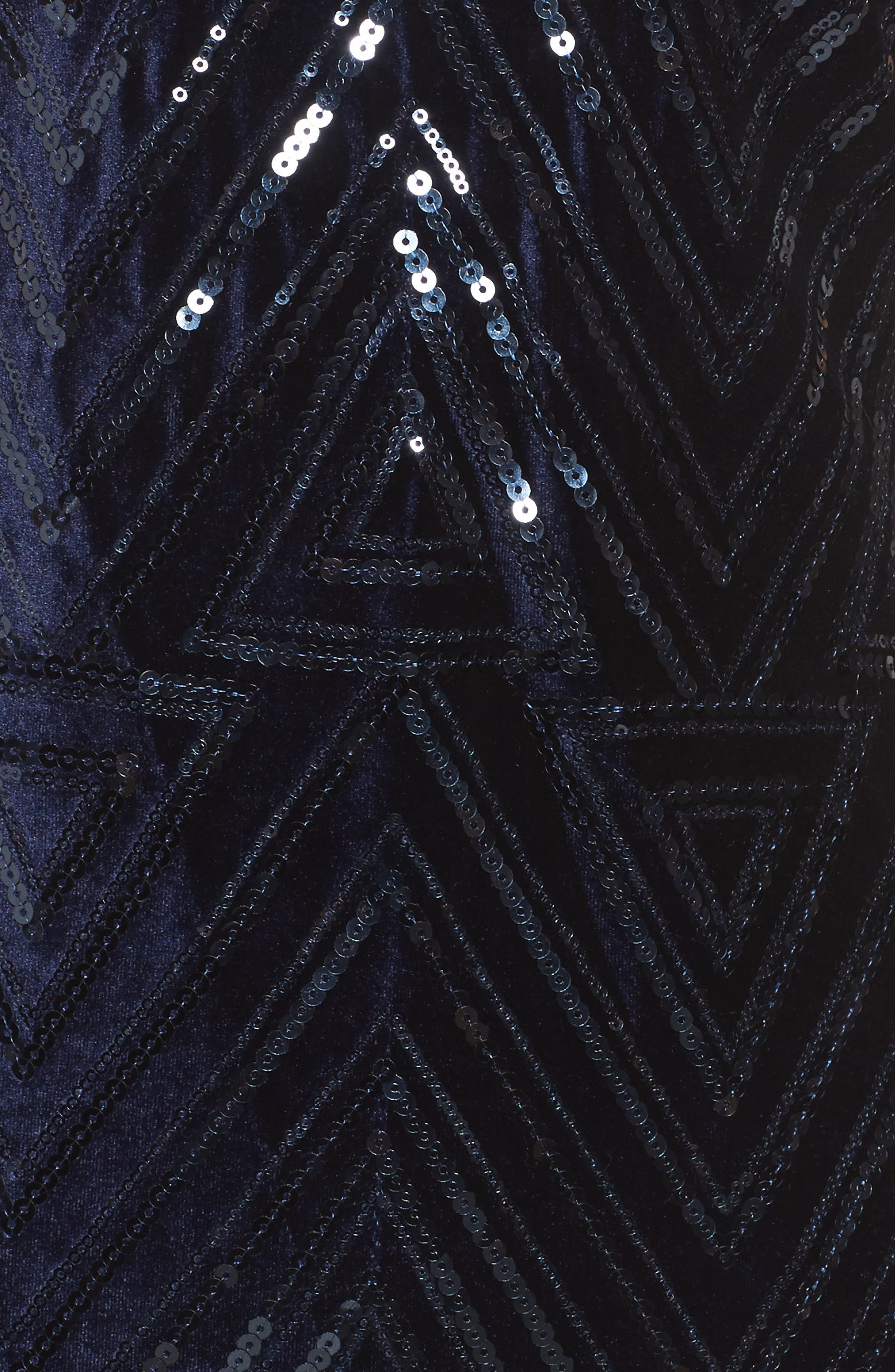 Sequin Sheath Dress,                             Alternate thumbnail 5, color,                             Navy