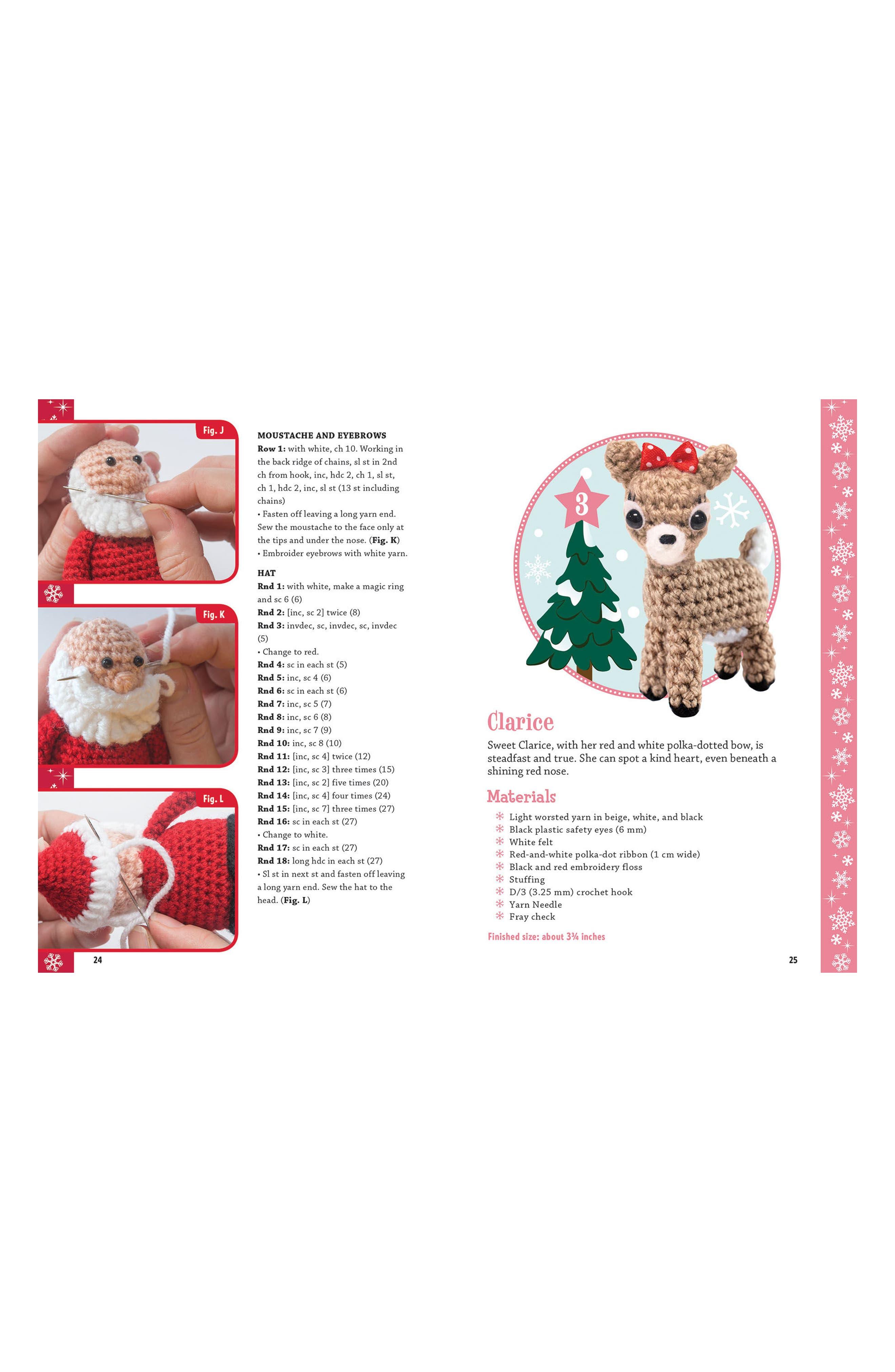 Rudolph the Red Nosed Reindeer Crochet Kit,                             Alternate thumbnail 2, color,                             Red