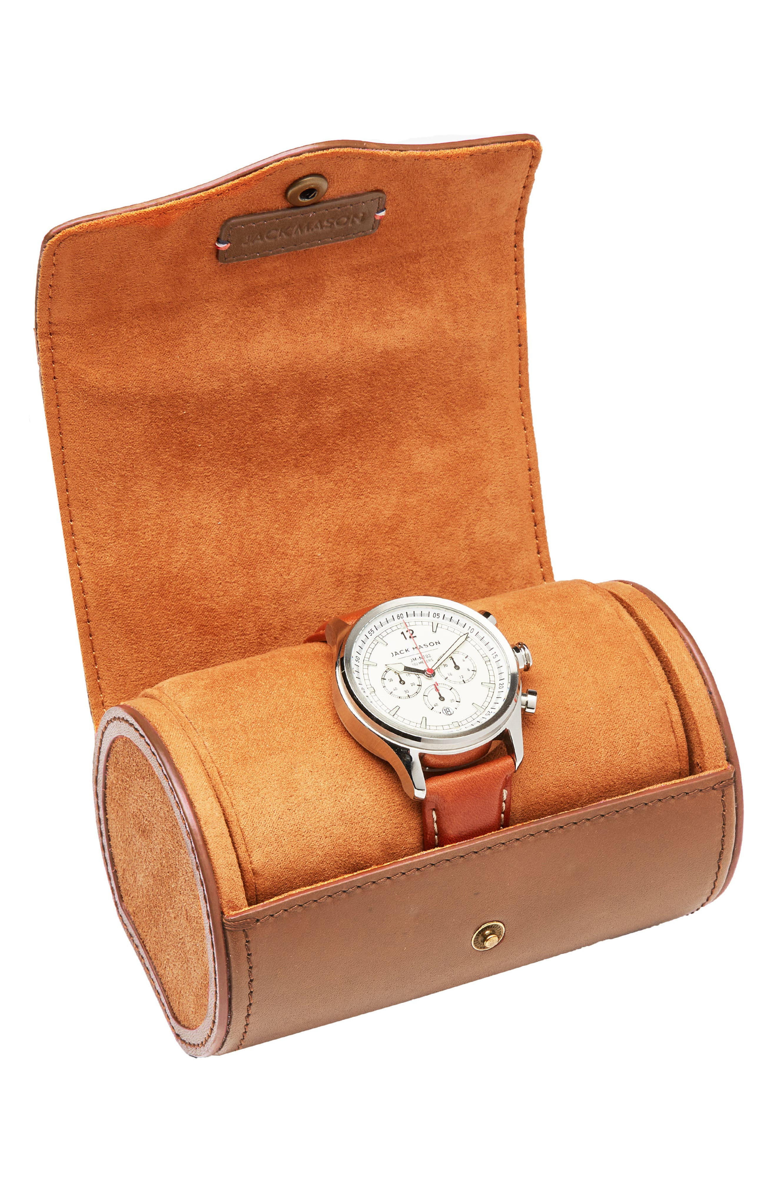 Watch Roll Case,                             Alternate thumbnail 5, color,                             Tan