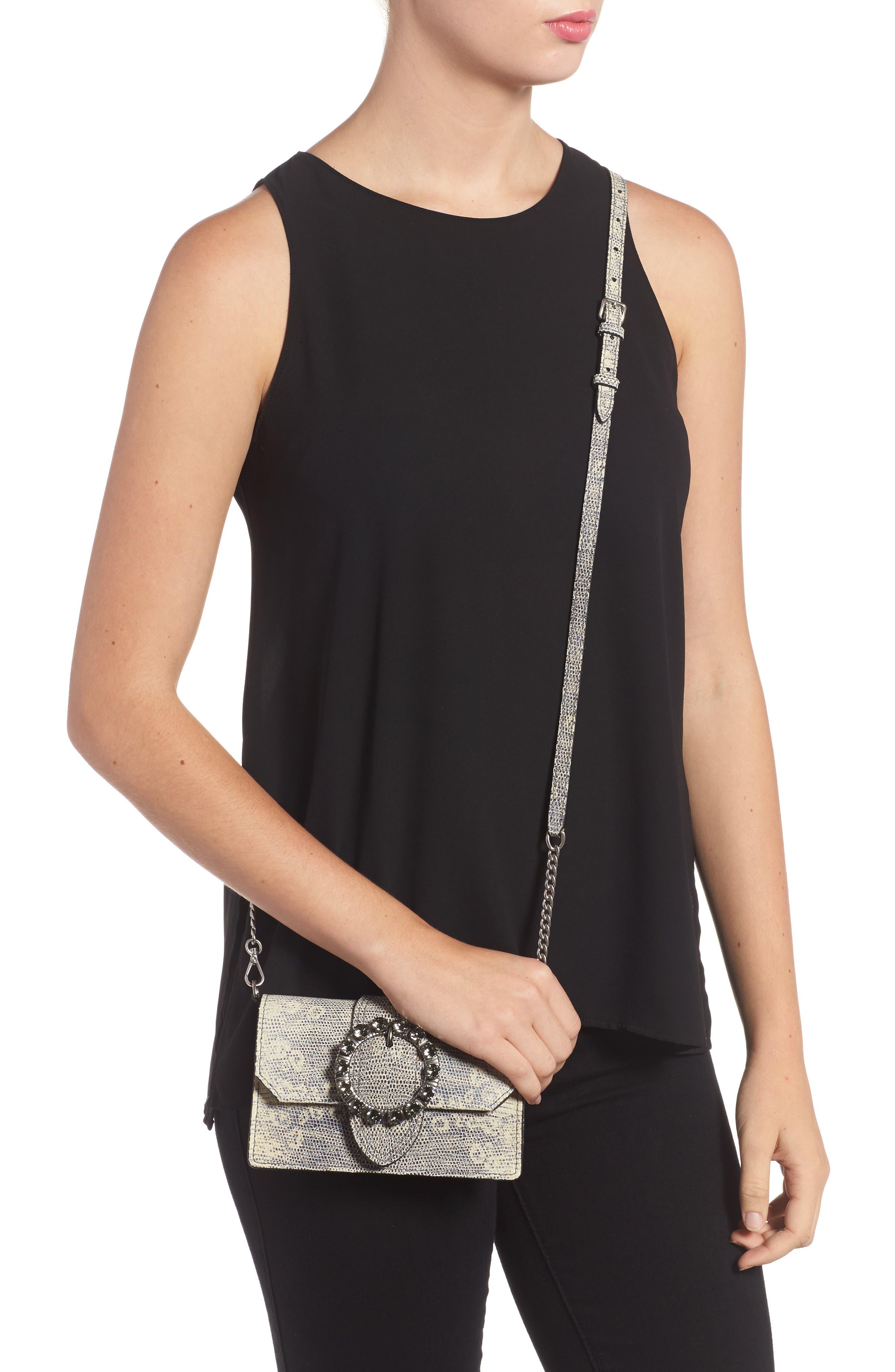 Alternate Image 2  - Miu Miu Lizard Embossed Leather Crossbody Bag