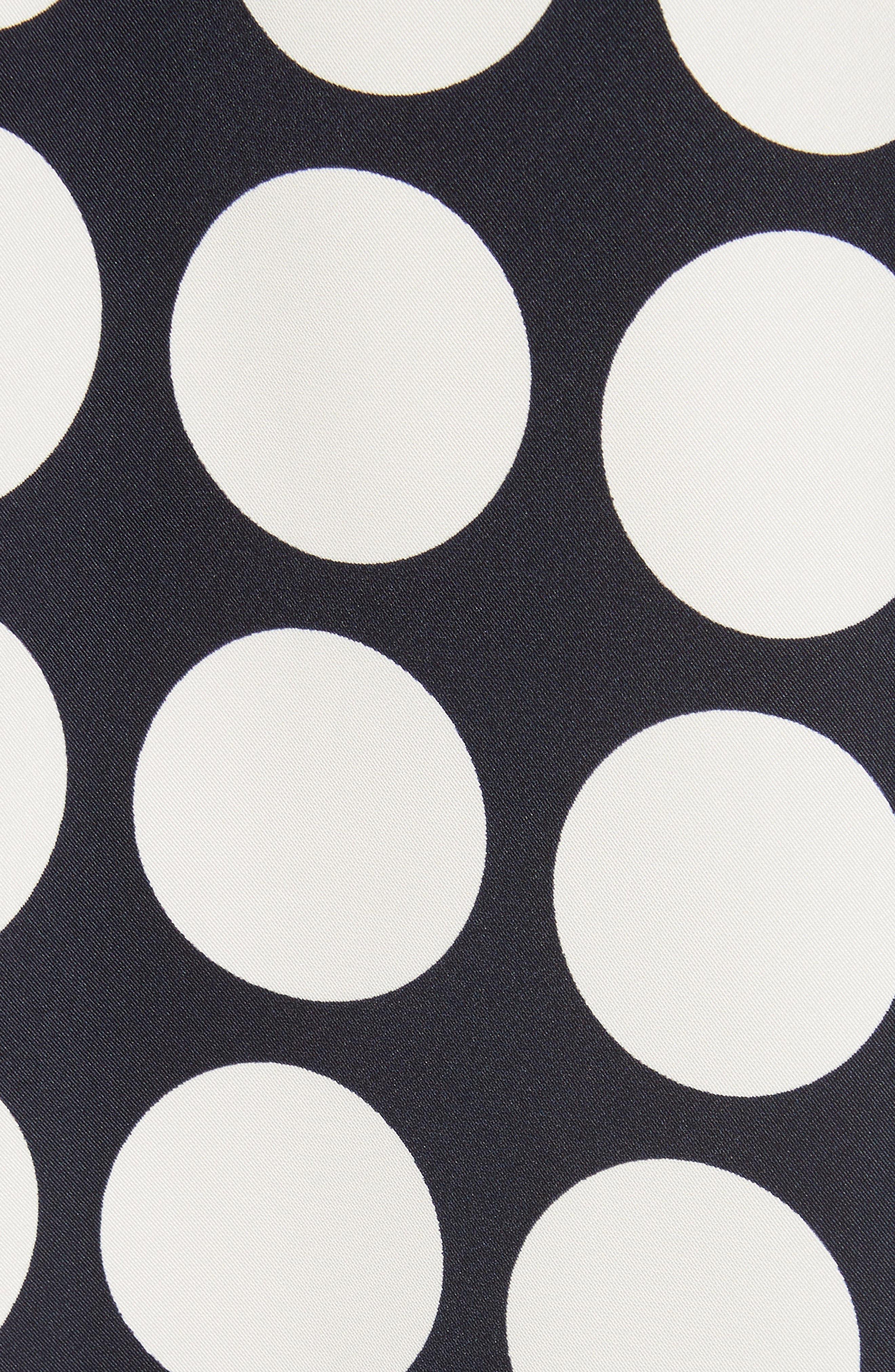 Giant Polka Dot Pleated Skirt,                             Alternate thumbnail 7, color,                             Navy/ Off-White