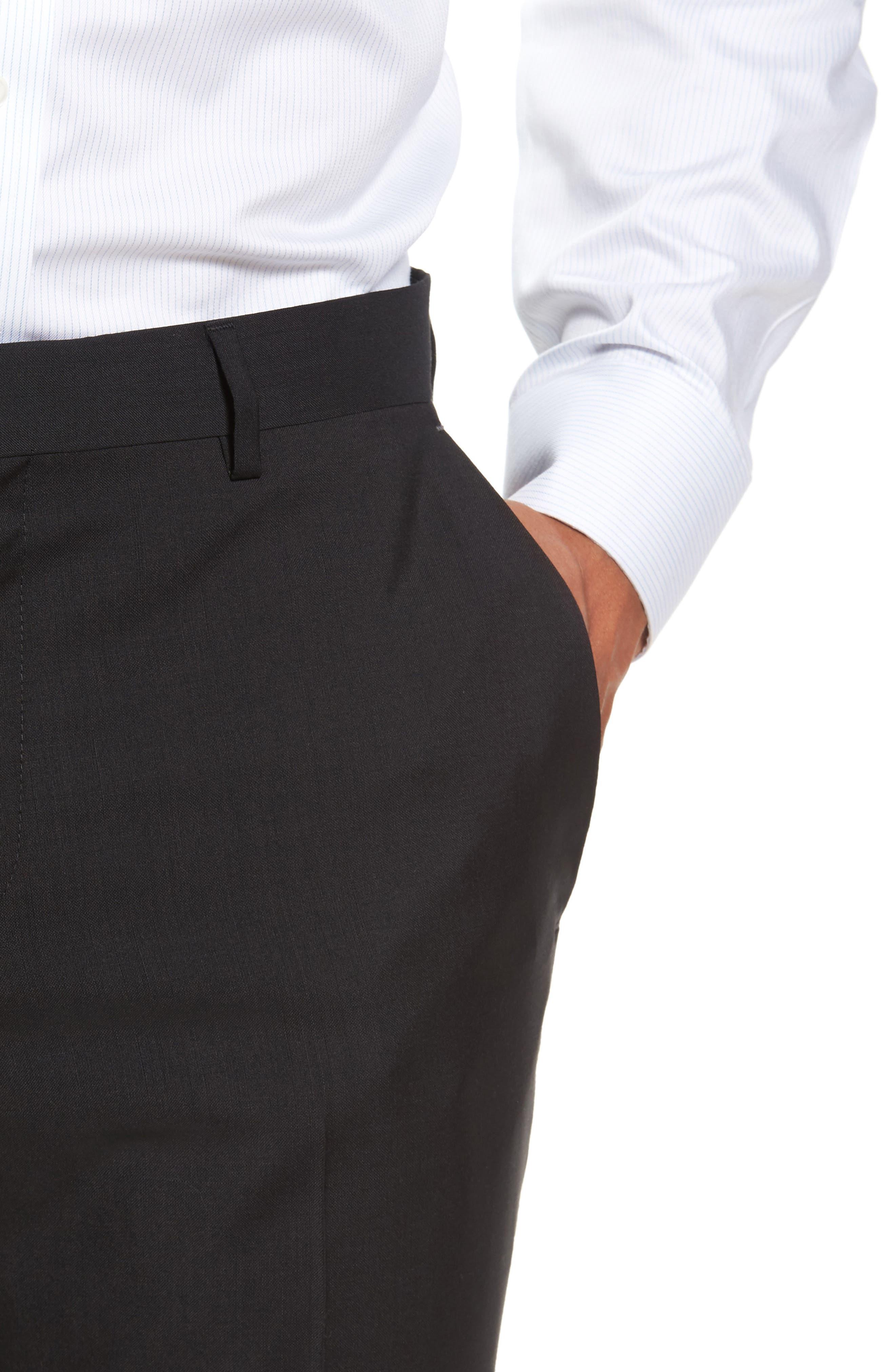 Alternate Image 5  - BOSS 'Genesis' Flat Front Wool Trousers