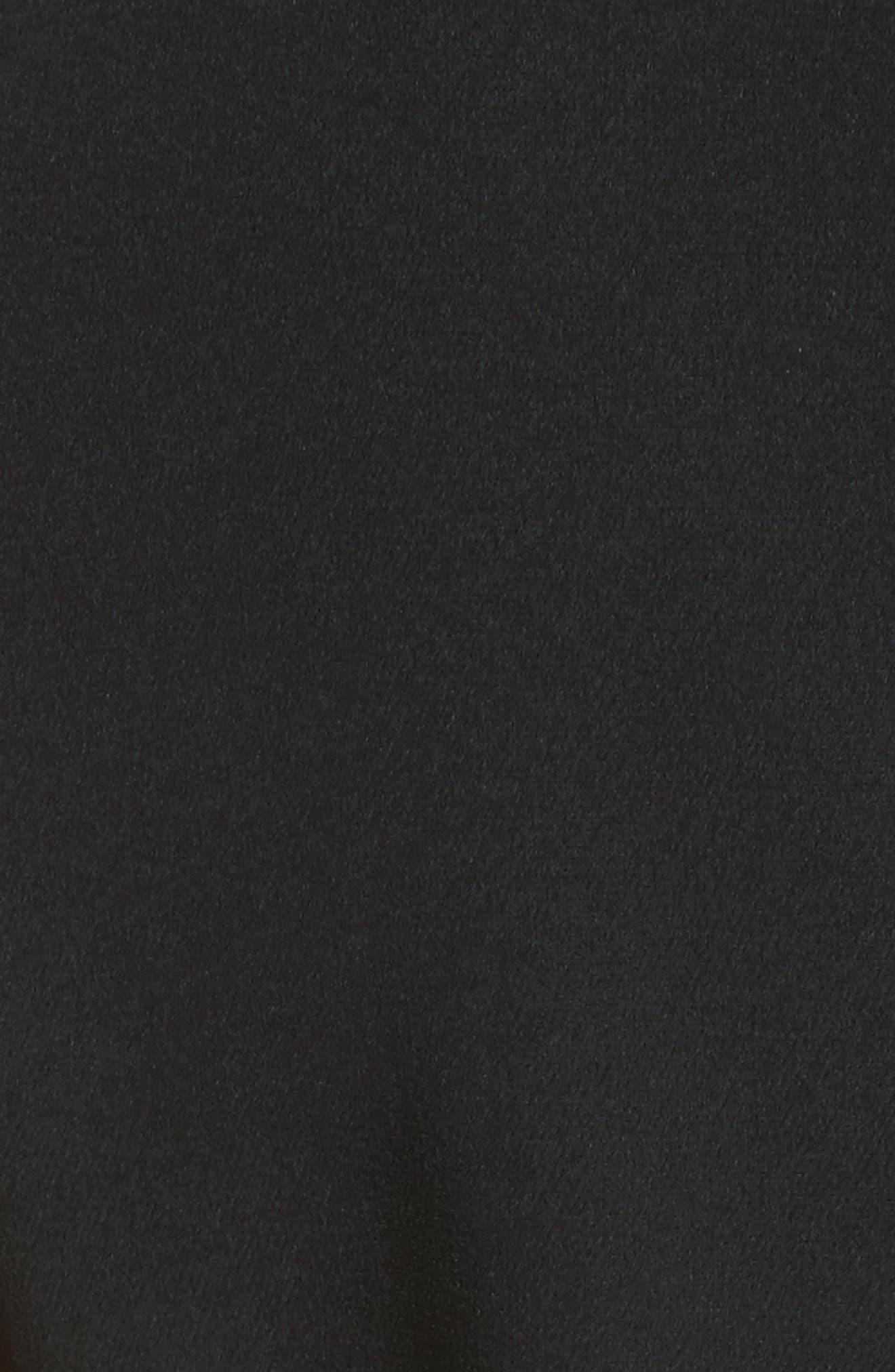 Jenny Stretch Crepe Fit & Flare Dress,                             Alternate thumbnail 5, color,                             White/ Black