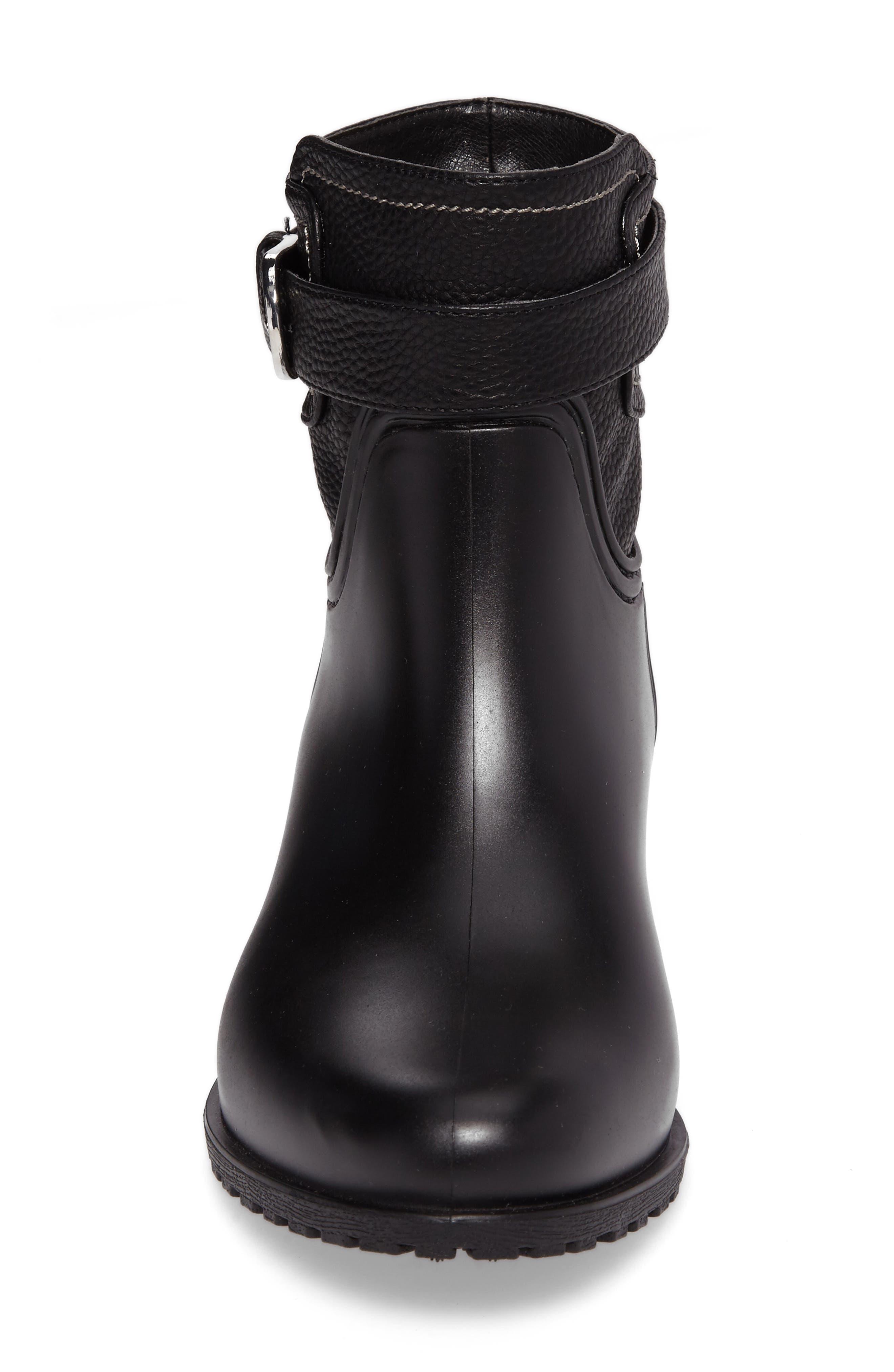 Bowie Faux Water Resistant Mid Boot,                             Alternate thumbnail 4, color,                             Black