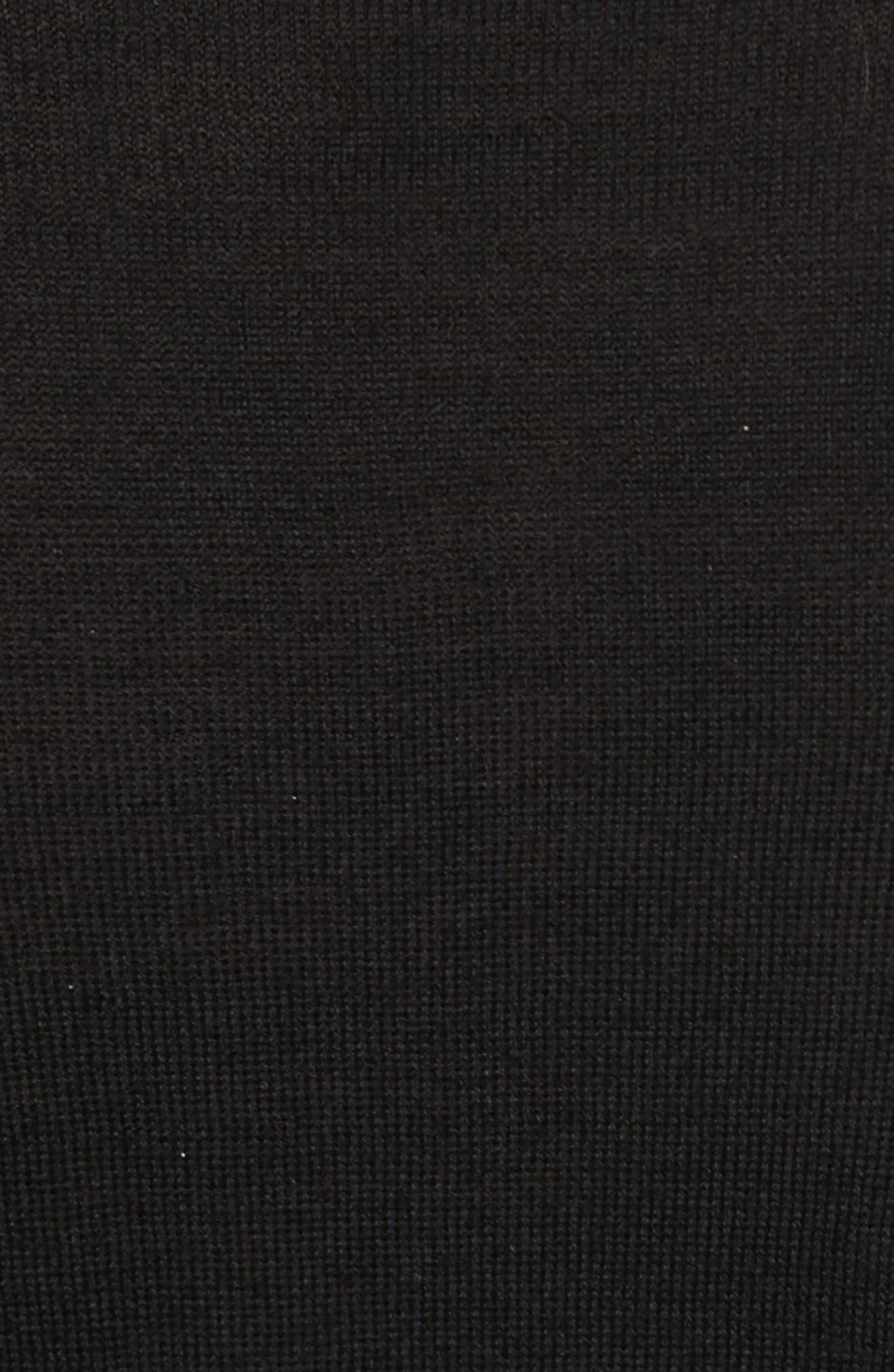 Roscoe Mixed Media Sweater,                             Alternate thumbnail 5, color,                             Black