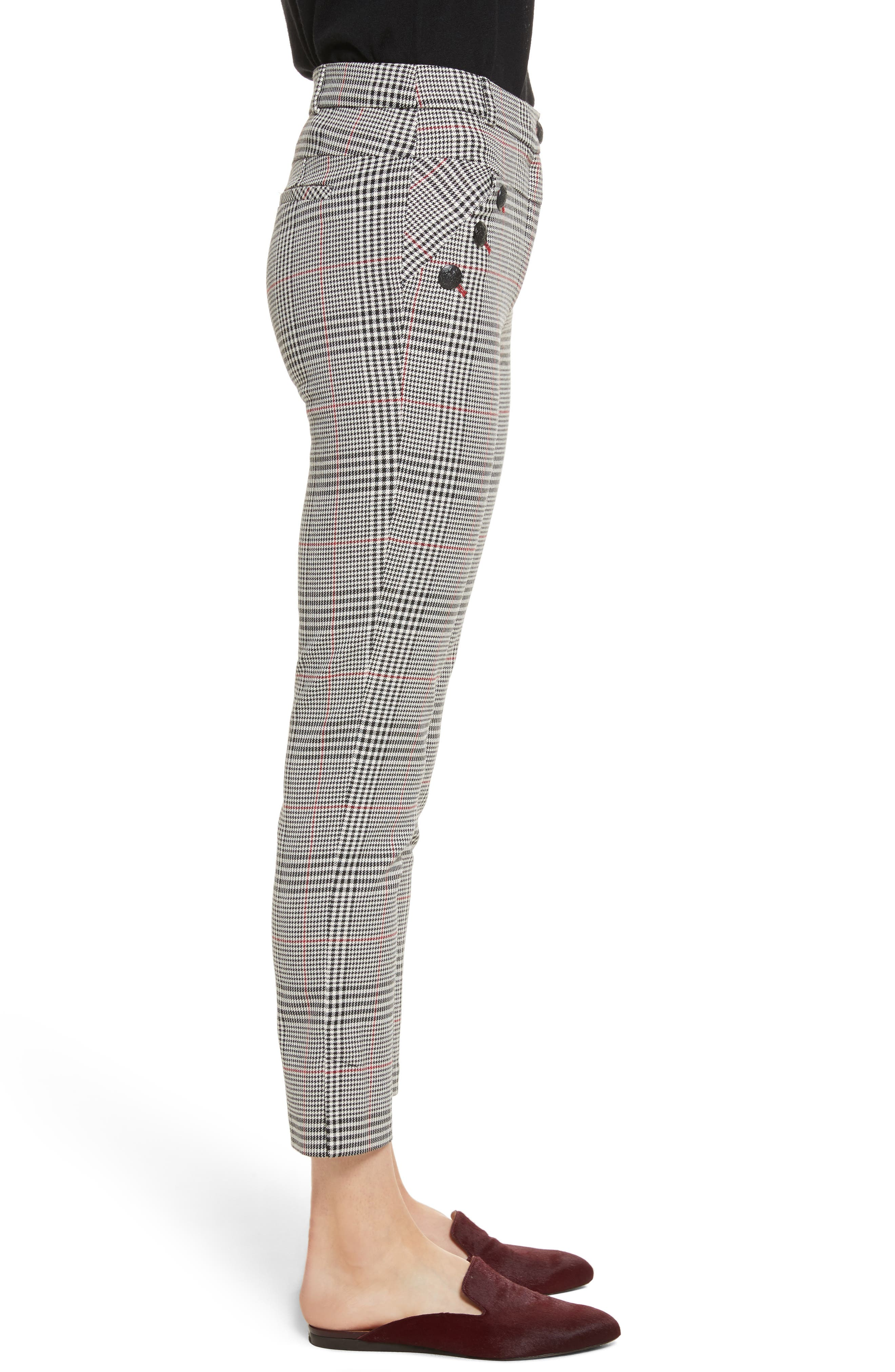 Farrow Pants,                             Alternate thumbnail 3, color,                             White/ Black/ Red