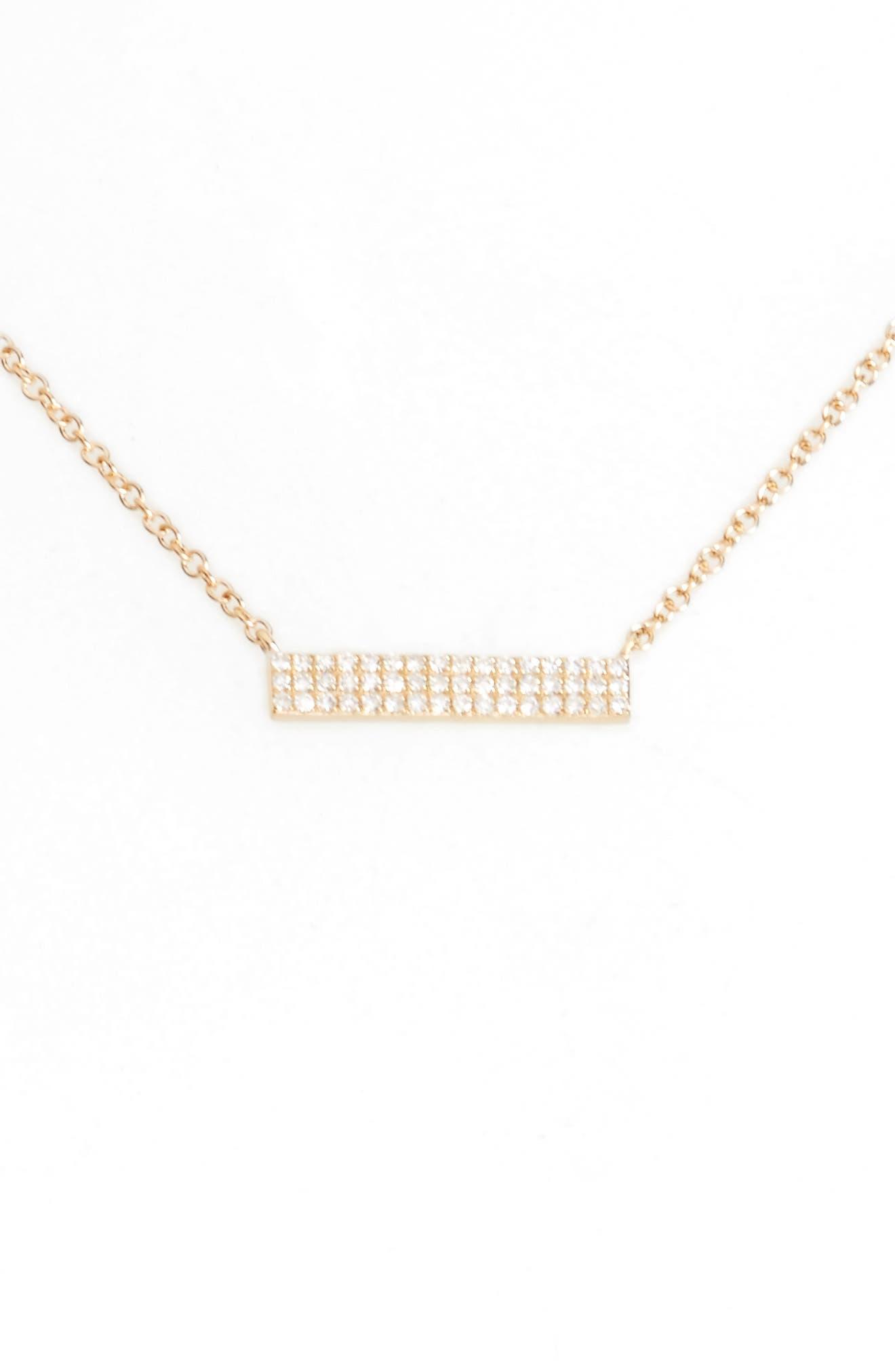 Alternate Image 1 Selected - EF COLLECTION Mini Diamond Pendant Necklace