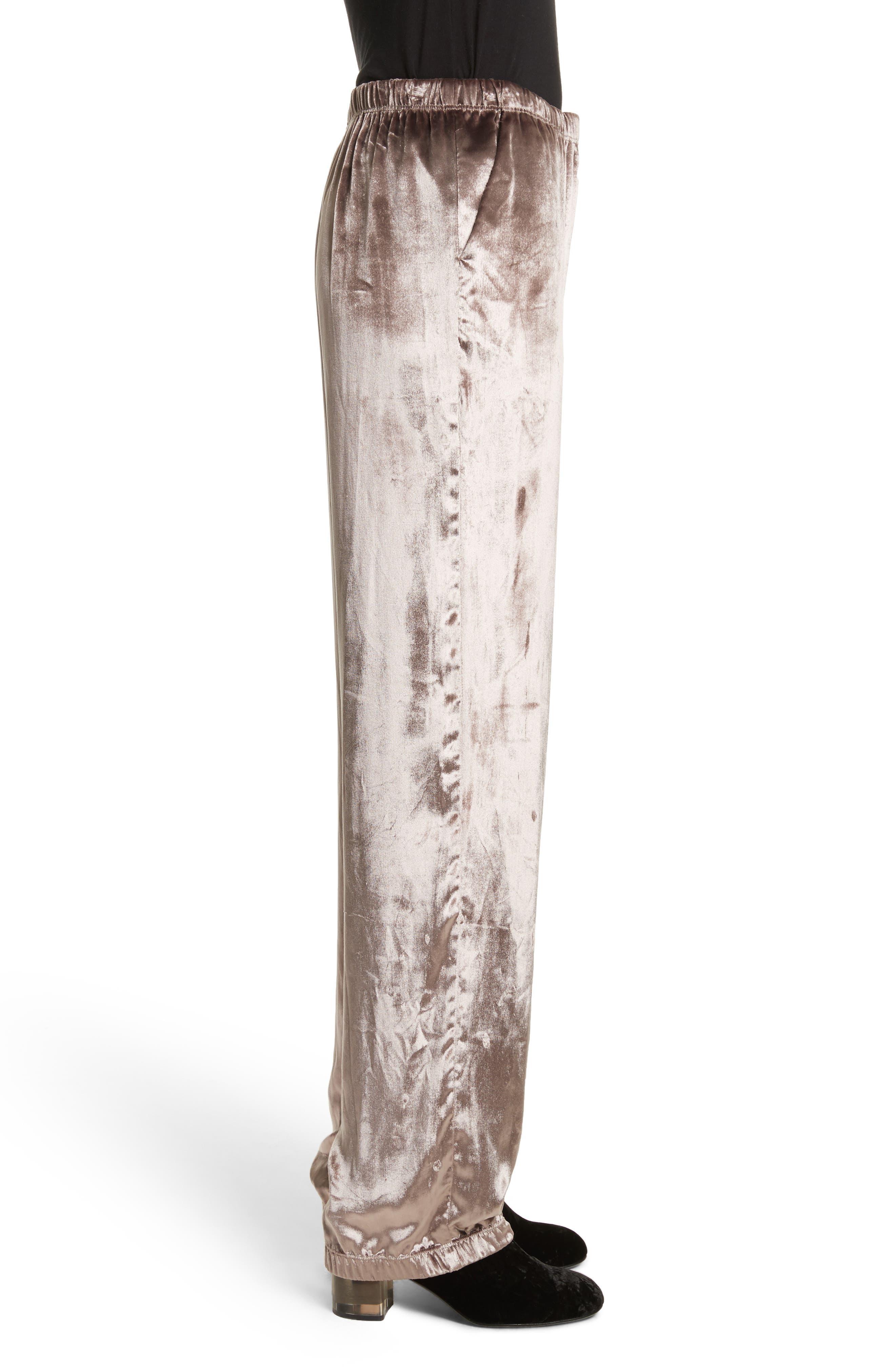 Alternate Image 4  - rag & bone Crushed Velvet Track Pants