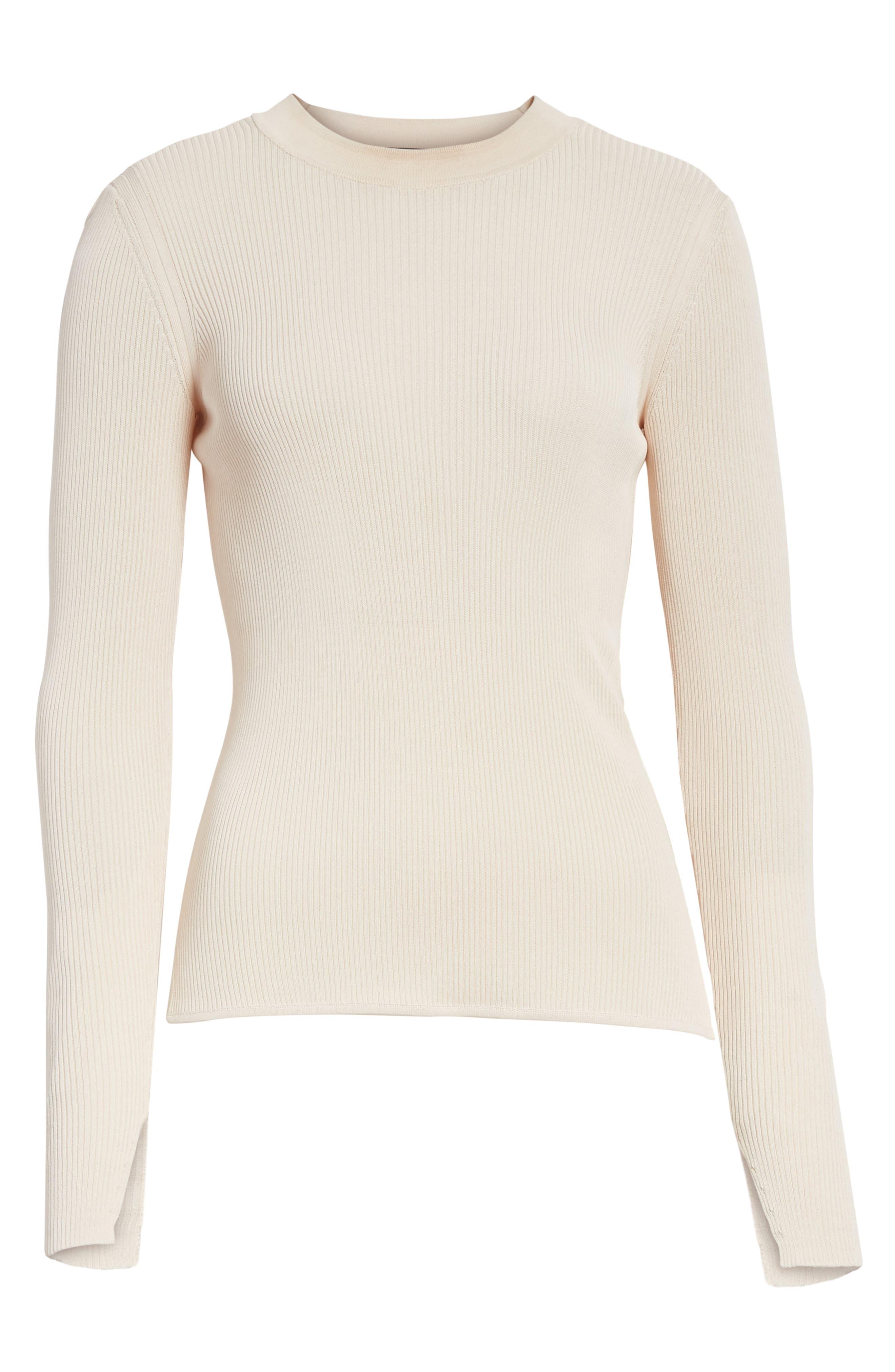 Sylvia Split Cuff Sweater,                             Alternate thumbnail 6, color,                             Pink