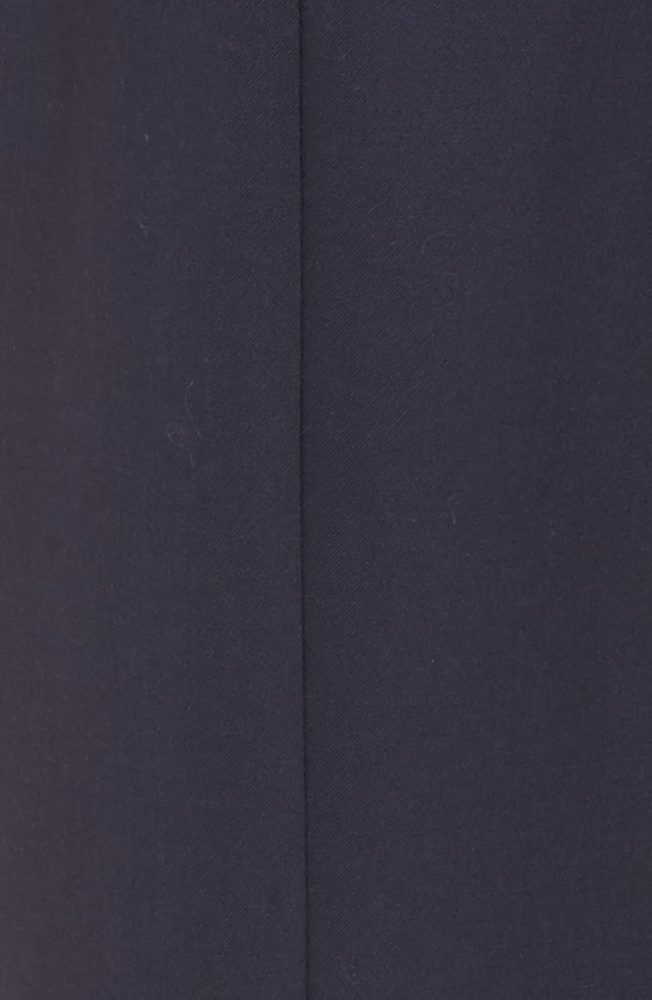 Button Detail Wide Leg Trouser,                             Alternate thumbnail 5, color,                             Navy Night