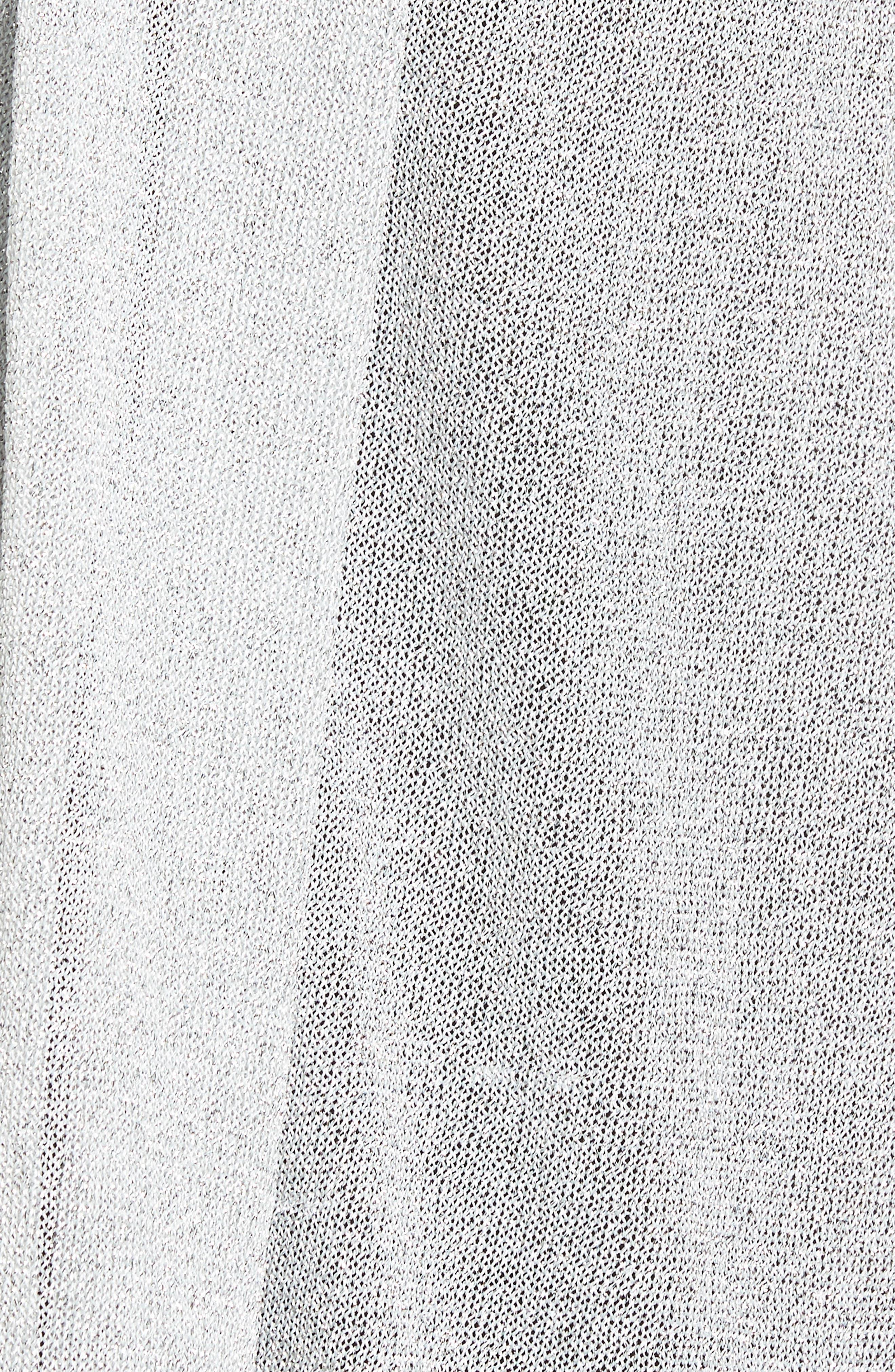 Alternate Image 5  - Nordstrom Metallic Knit Wrap